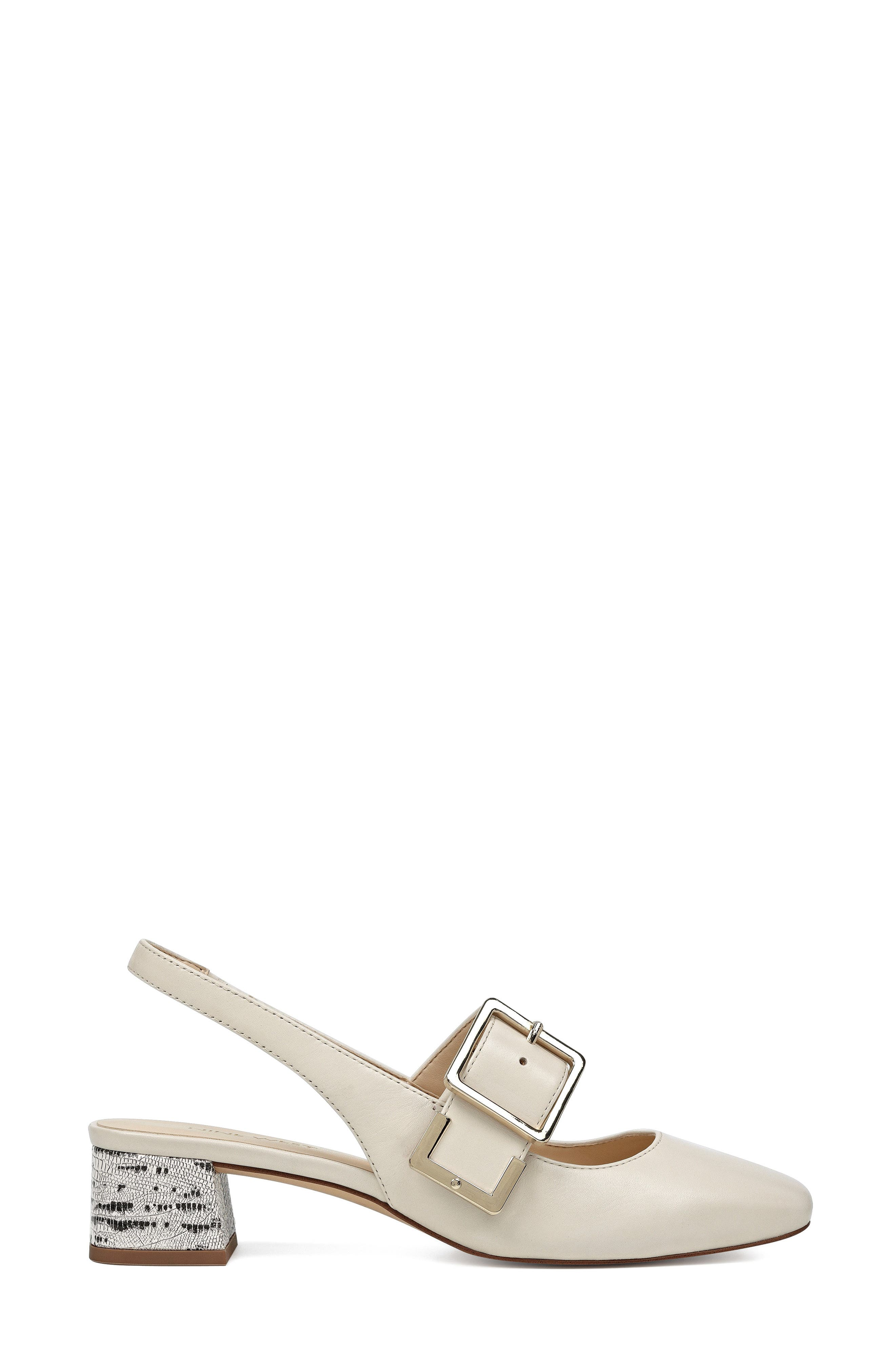 Wendor Slingback Pump,                             Alternate thumbnail 3, color,                             Off White Leather