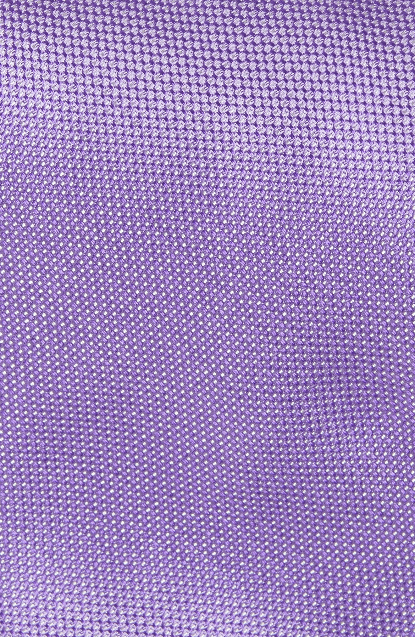 Rawson Solid Silk Tie,                             Alternate thumbnail 2, color,                             Purple
