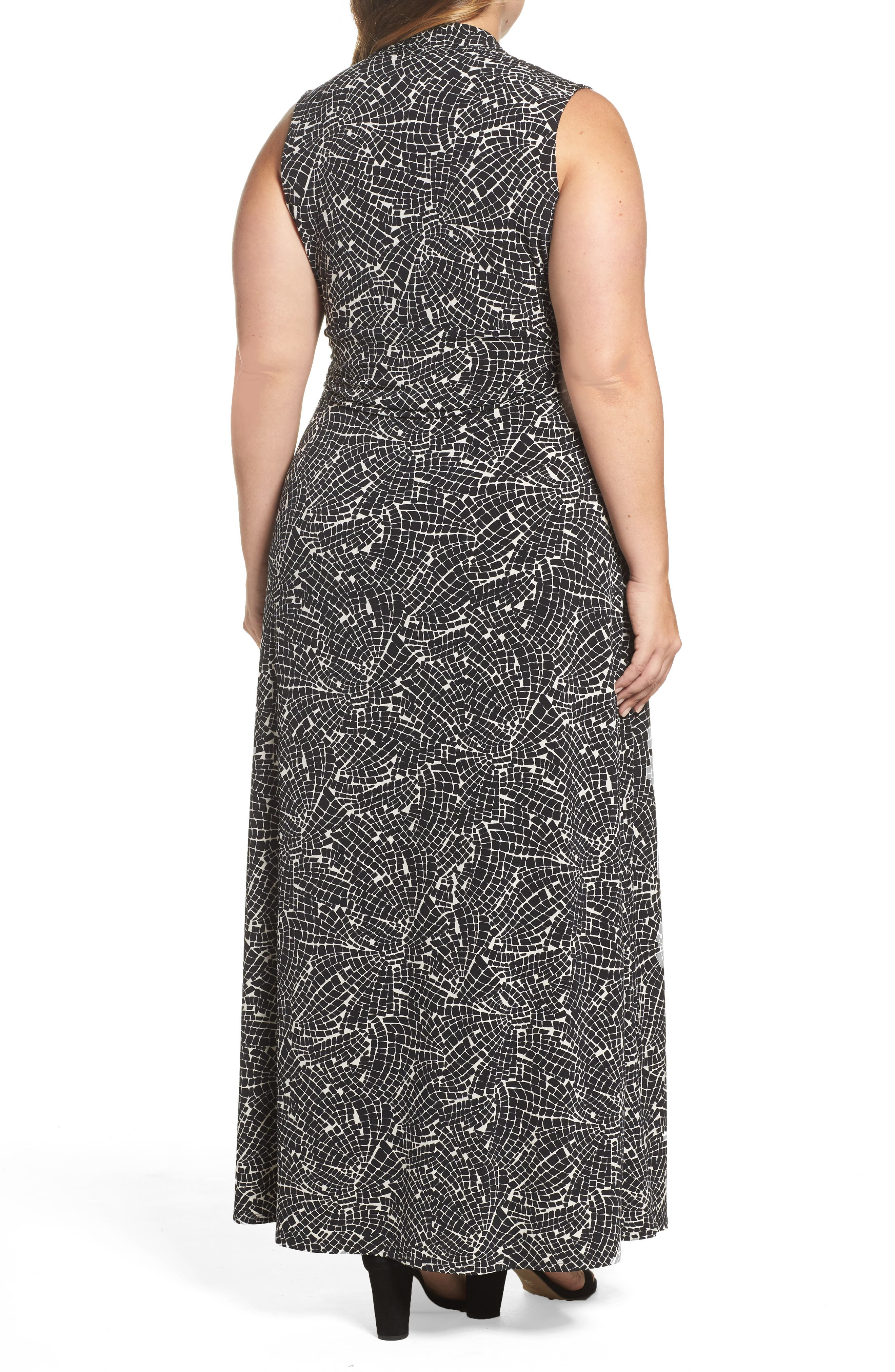 Modern Mosaic Maxi Dress,                             Alternate thumbnail 2, color,                             Rich Black