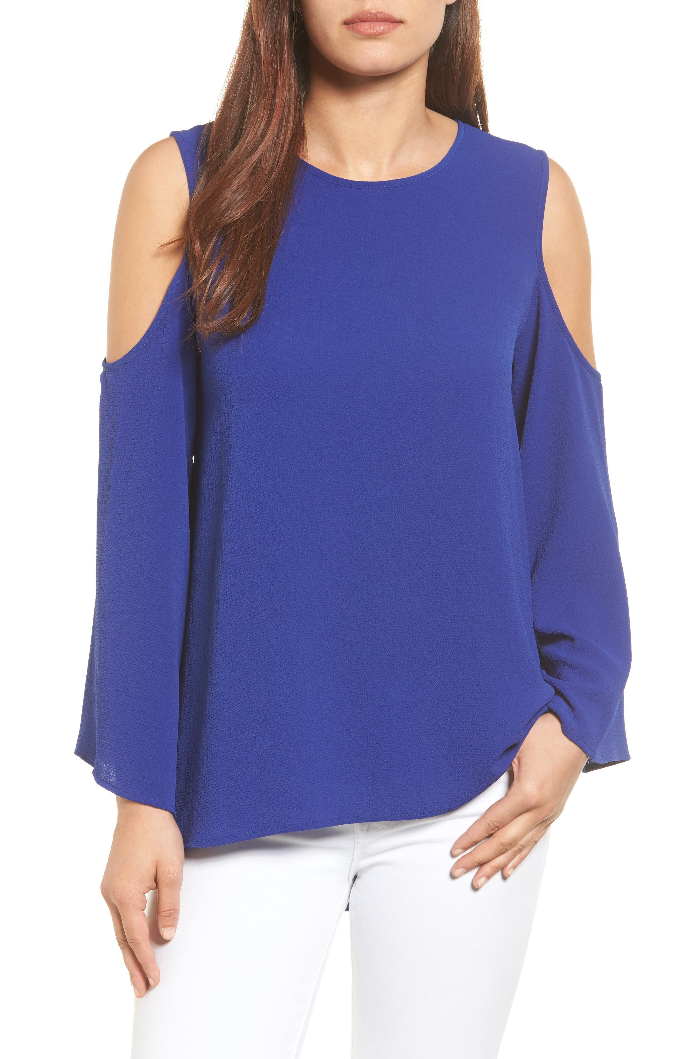 Vince Camuto Cold Shoulder Blouse (Regular & Petite)