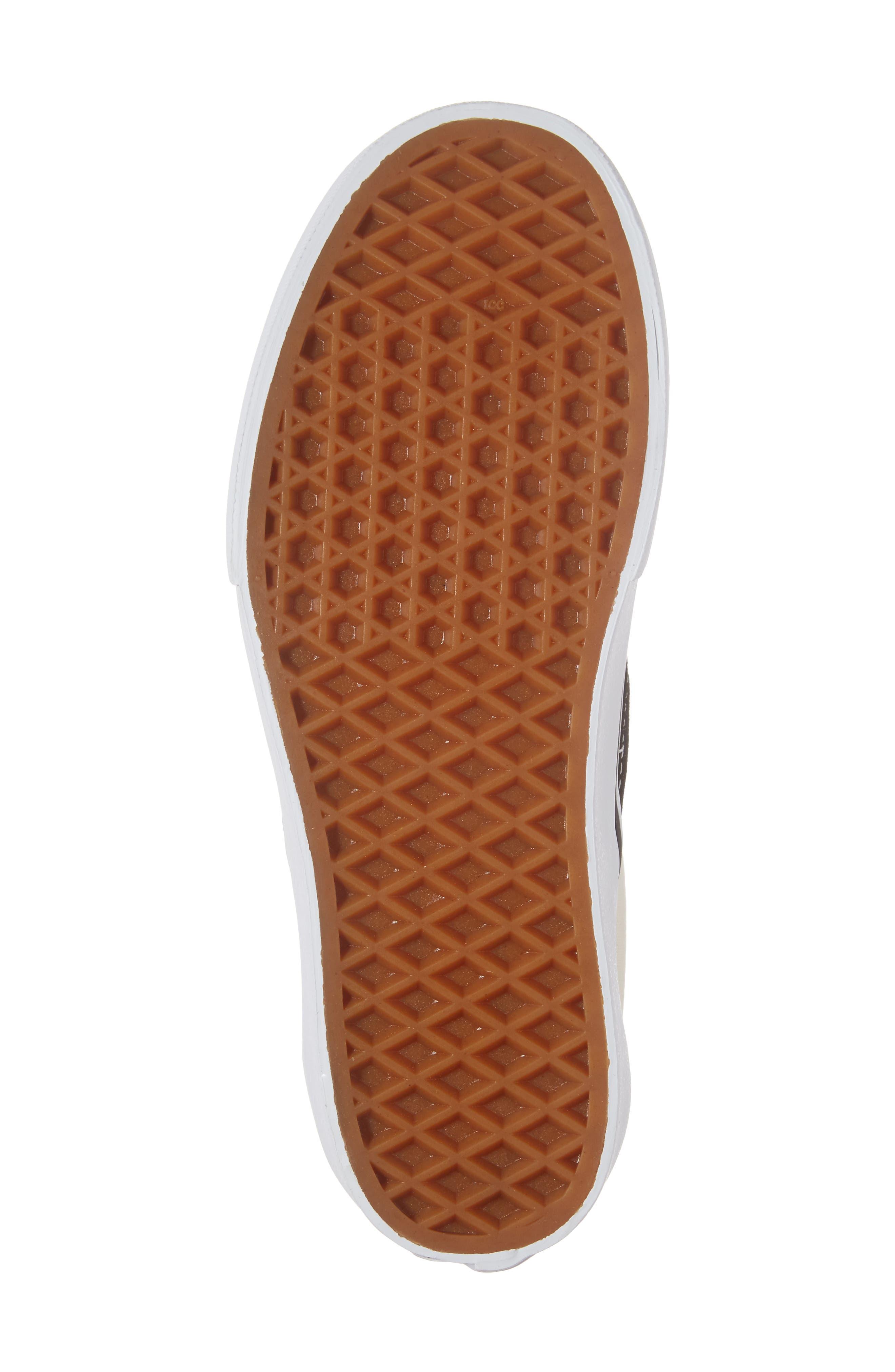 Platform Slip-On Sneaker,                             Alternate thumbnail 6, color,                             Black/ Black/ White