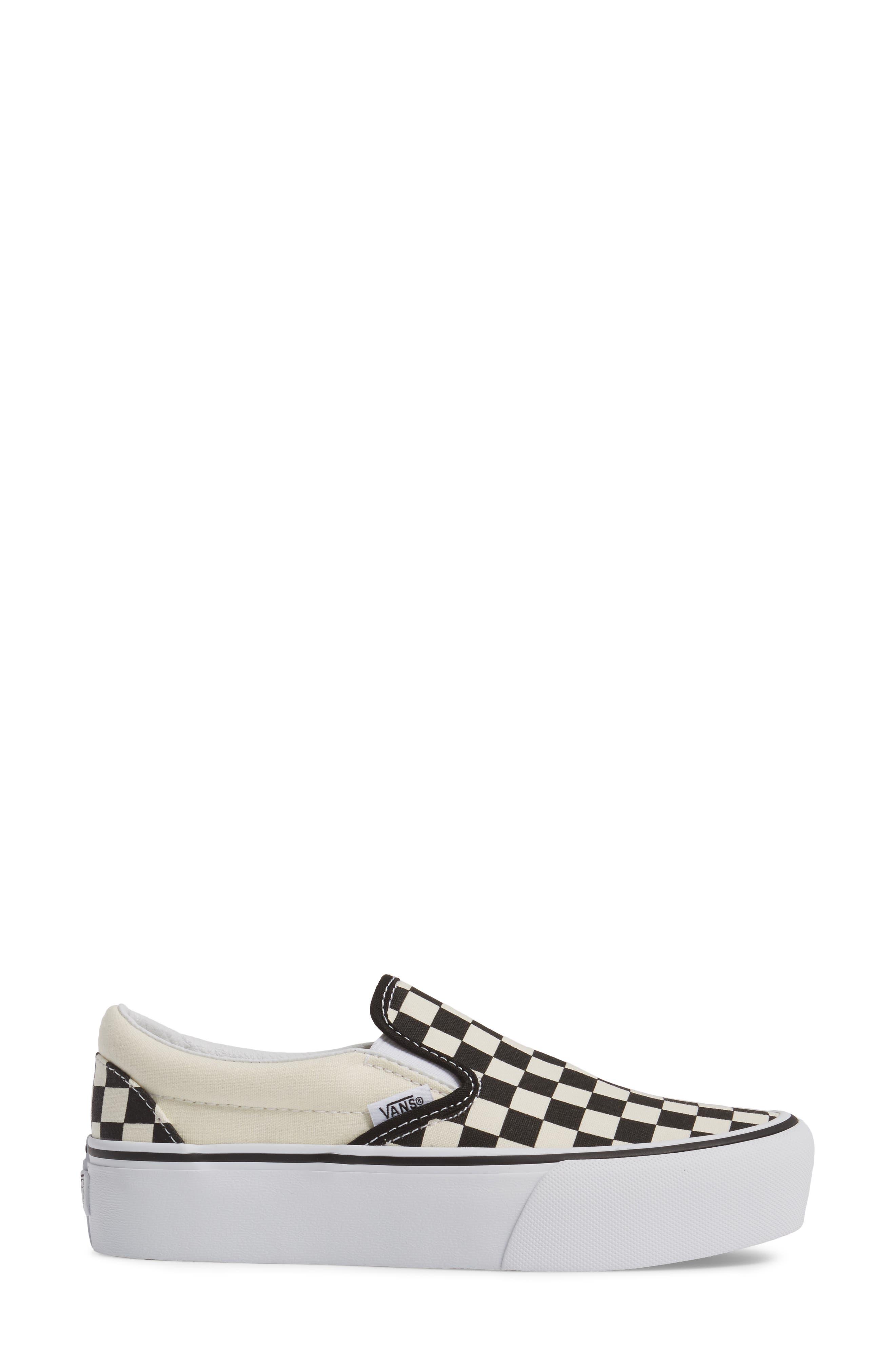 Platform Slip-On Sneaker,                             Alternate thumbnail 3, color,                             Black/ Black/ White