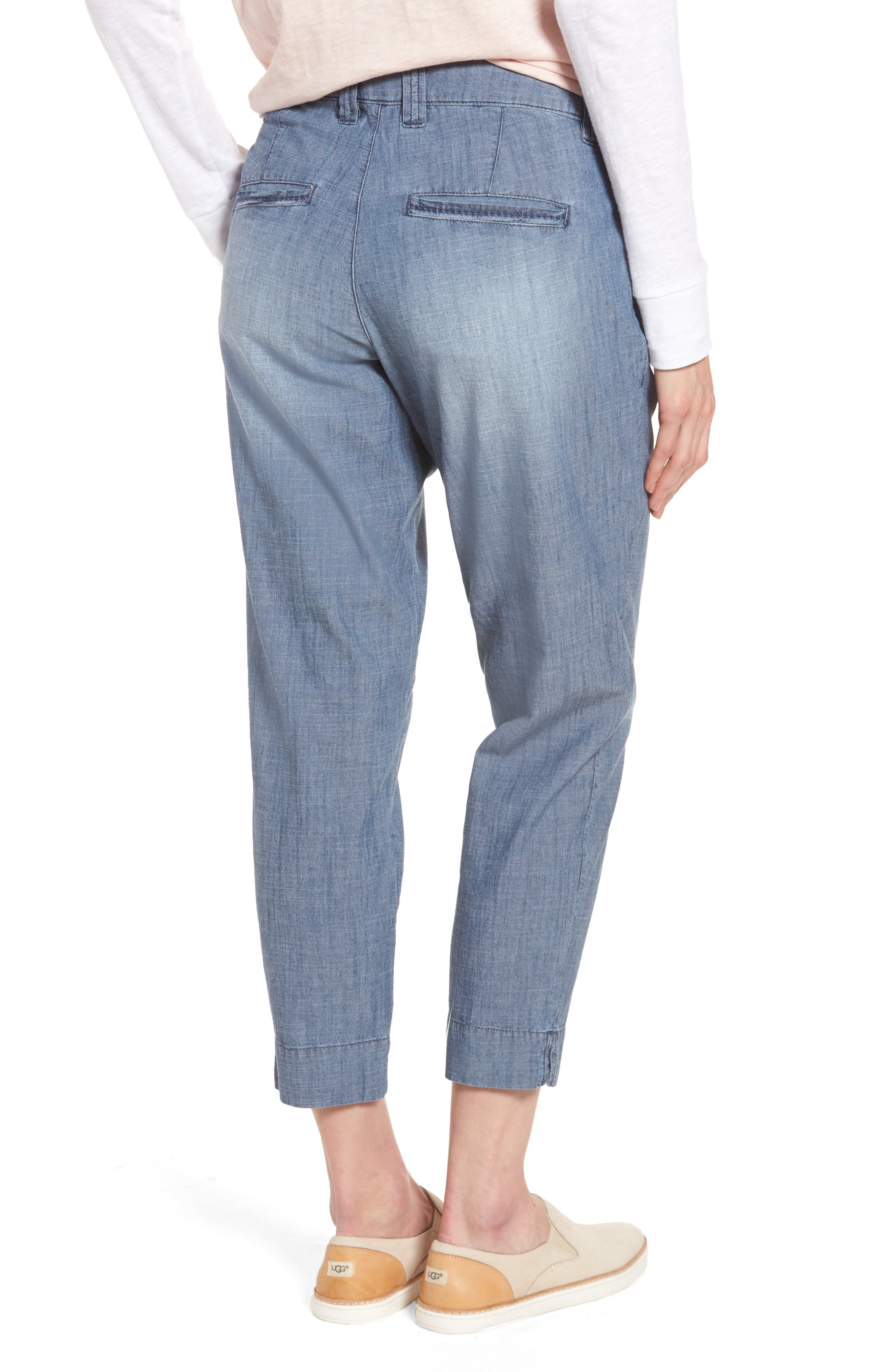 Alternate Image 2  - Jag Jeans Creston Crop Chambray Pants