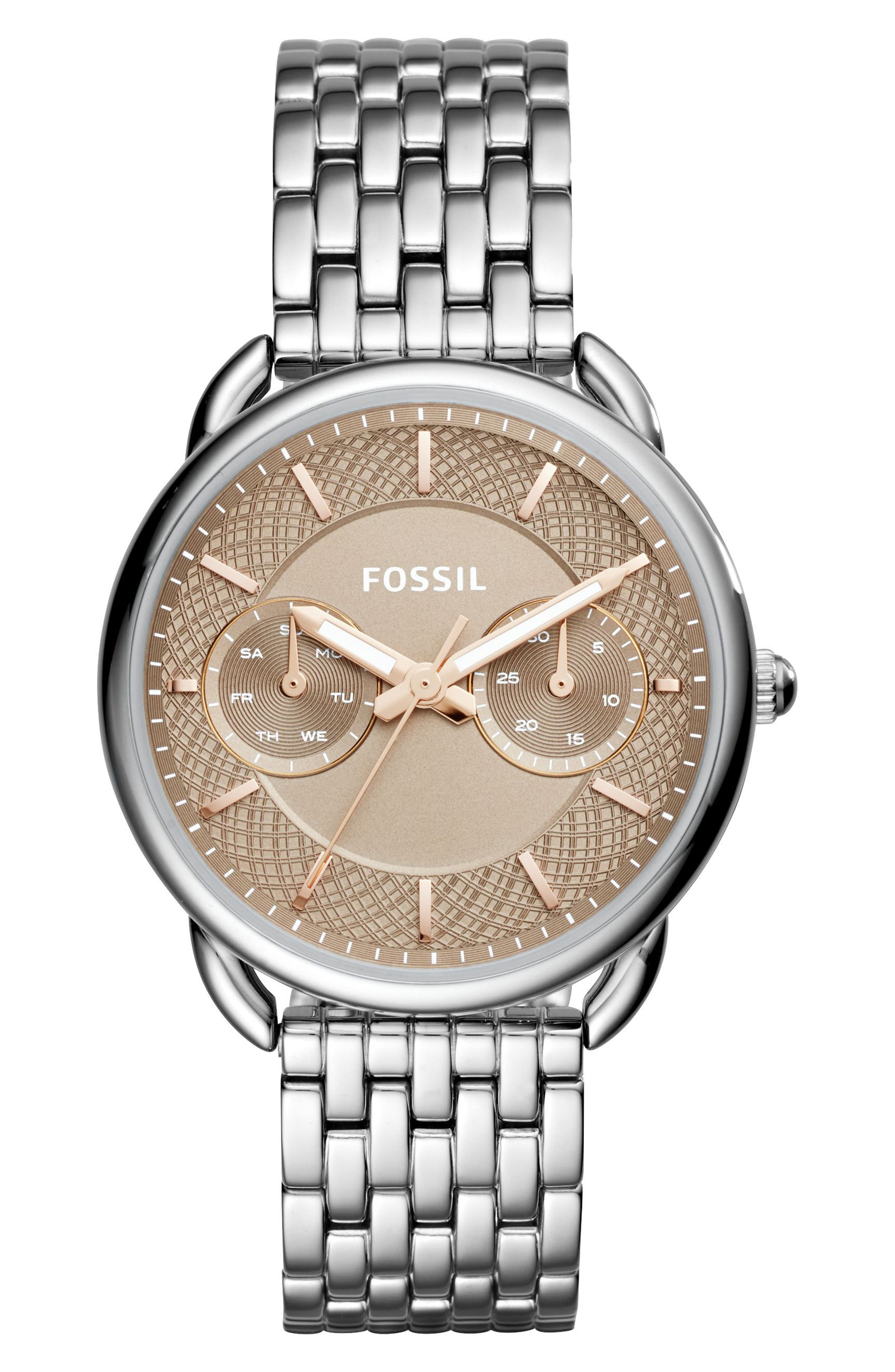 Tailor Bracelet Watch, 35mm,                         Main,                         color, Silver/ Beige/ Silver