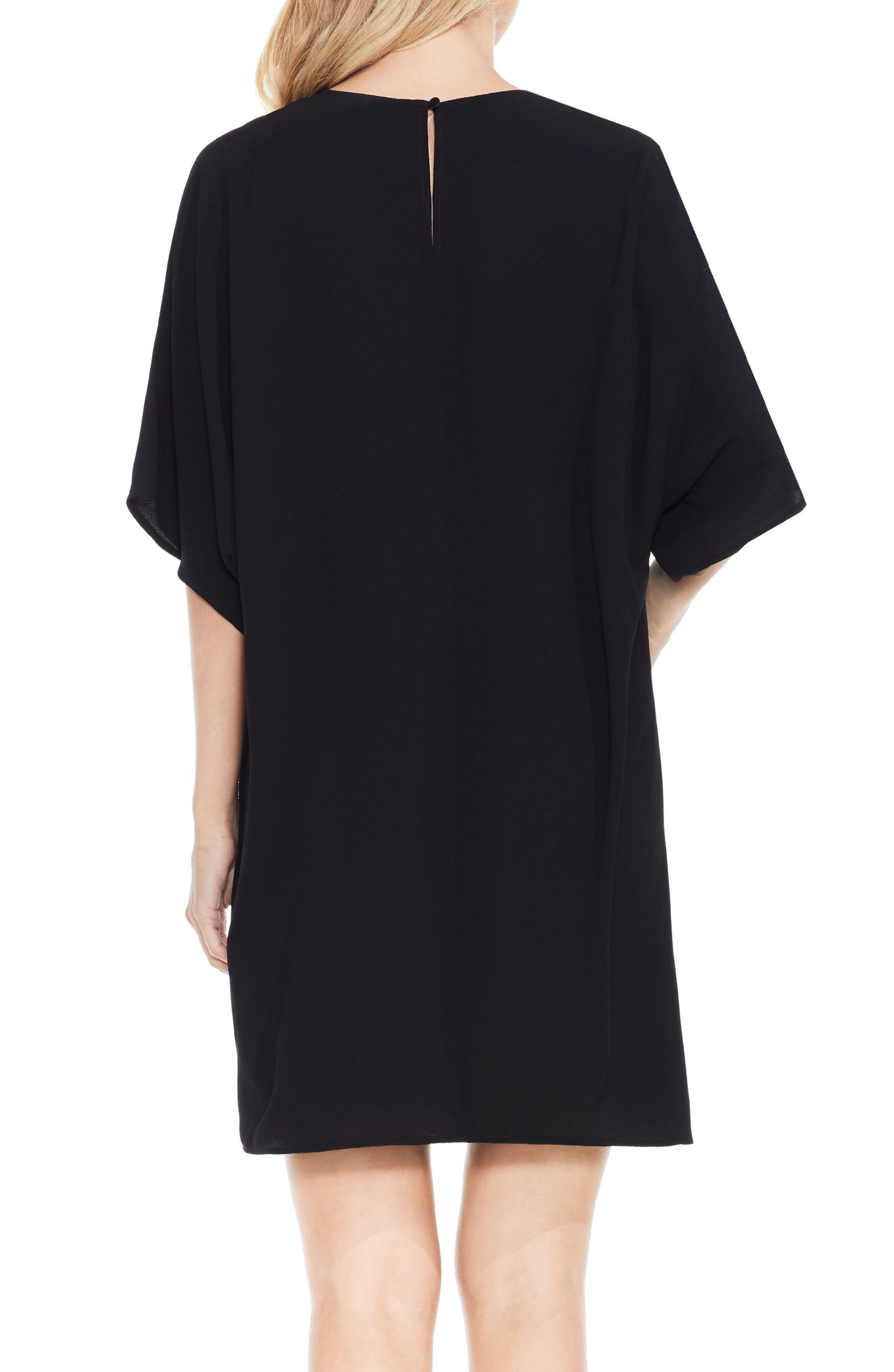 Dolman Sleeve Dress,                             Alternate thumbnail 4, color,                             Rich Black