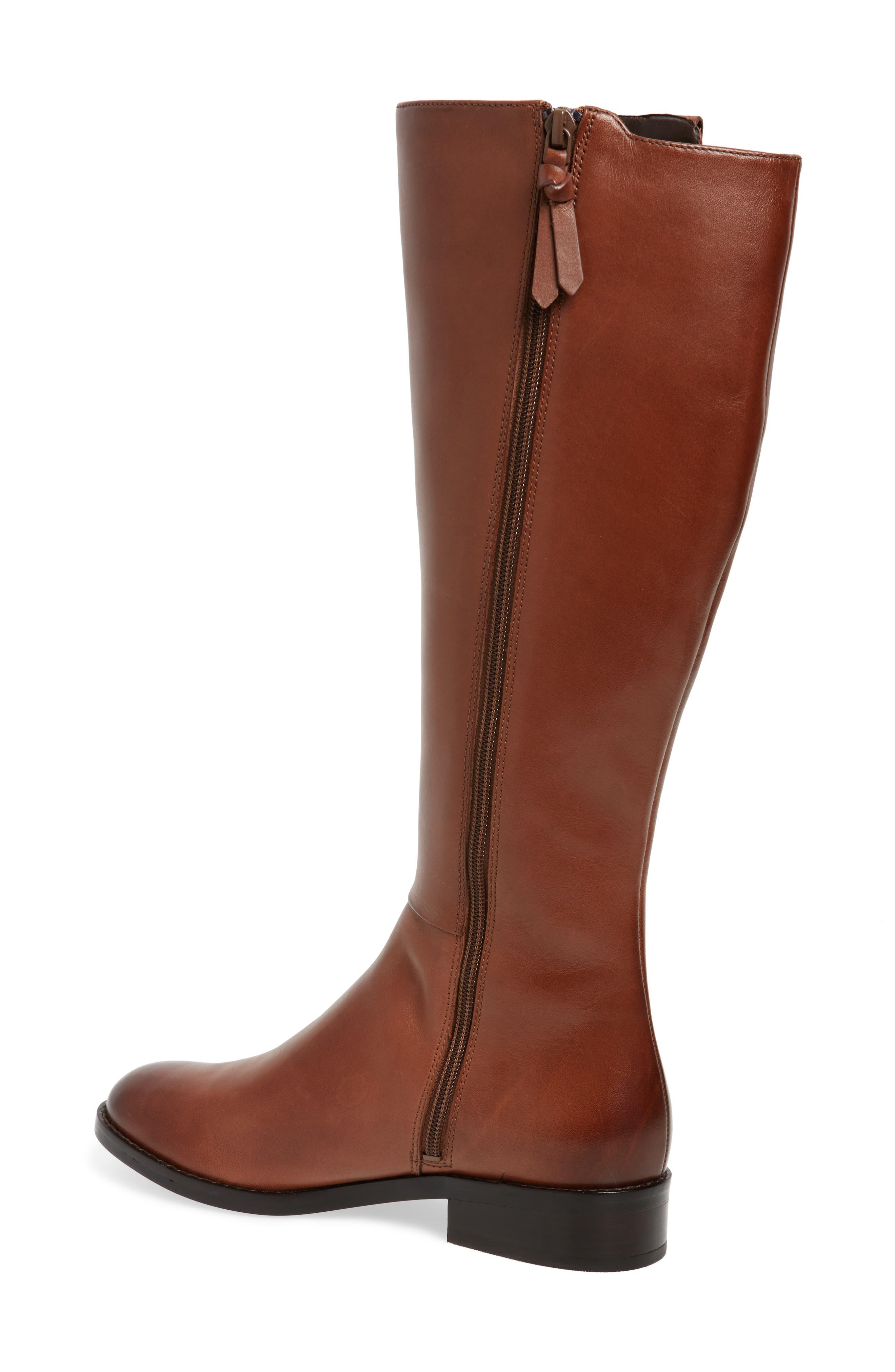 Katrina Riding Boot,                             Alternate thumbnail 3, color,                             Harvest Brown Leather