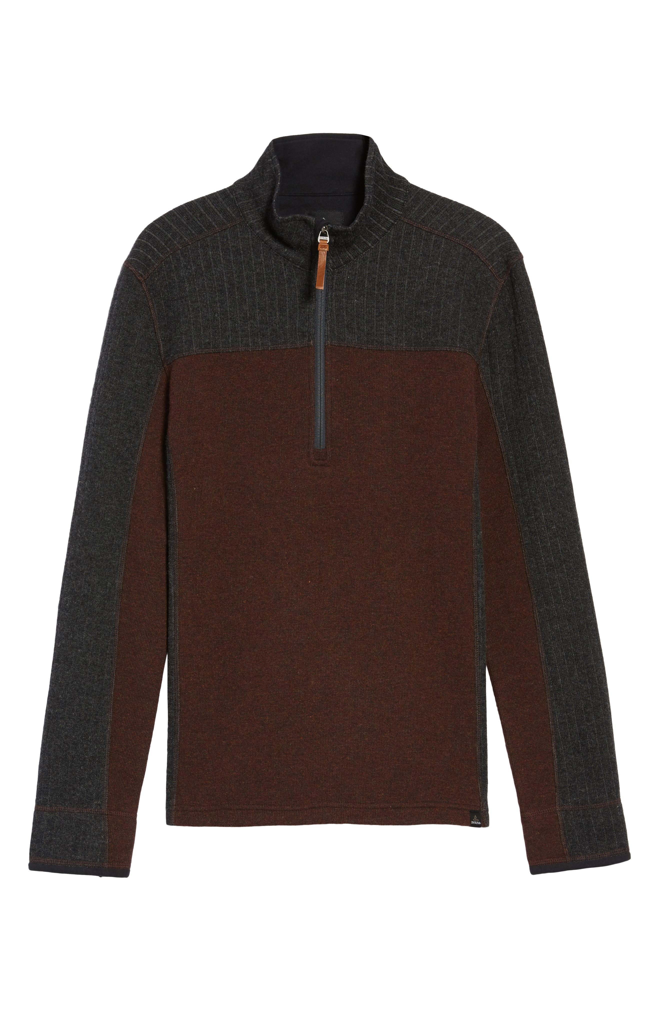 Wentworth Quarter Zip Pullover,                             Alternate thumbnail 5, color,                             Cocoa