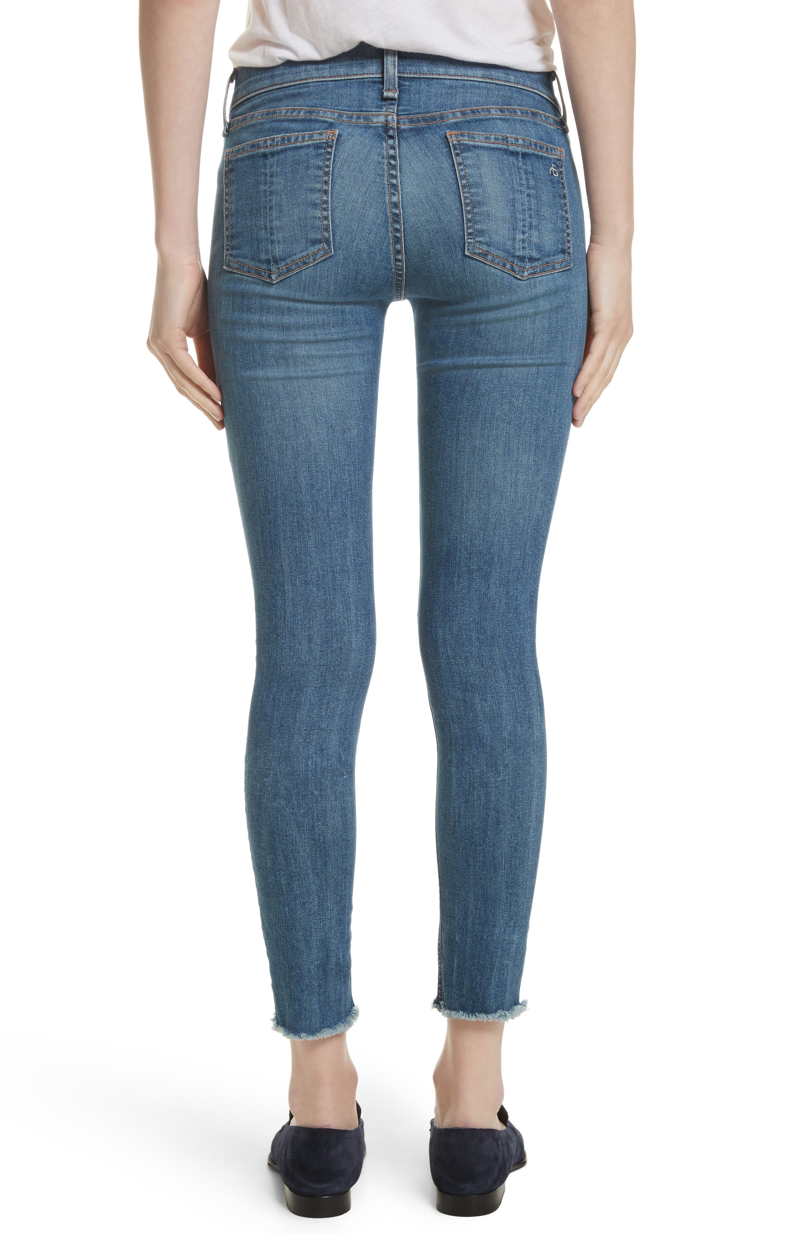 Alternate Image 3  - rag & bone/JEAN Skinny Jeans (Lucky Rouge)