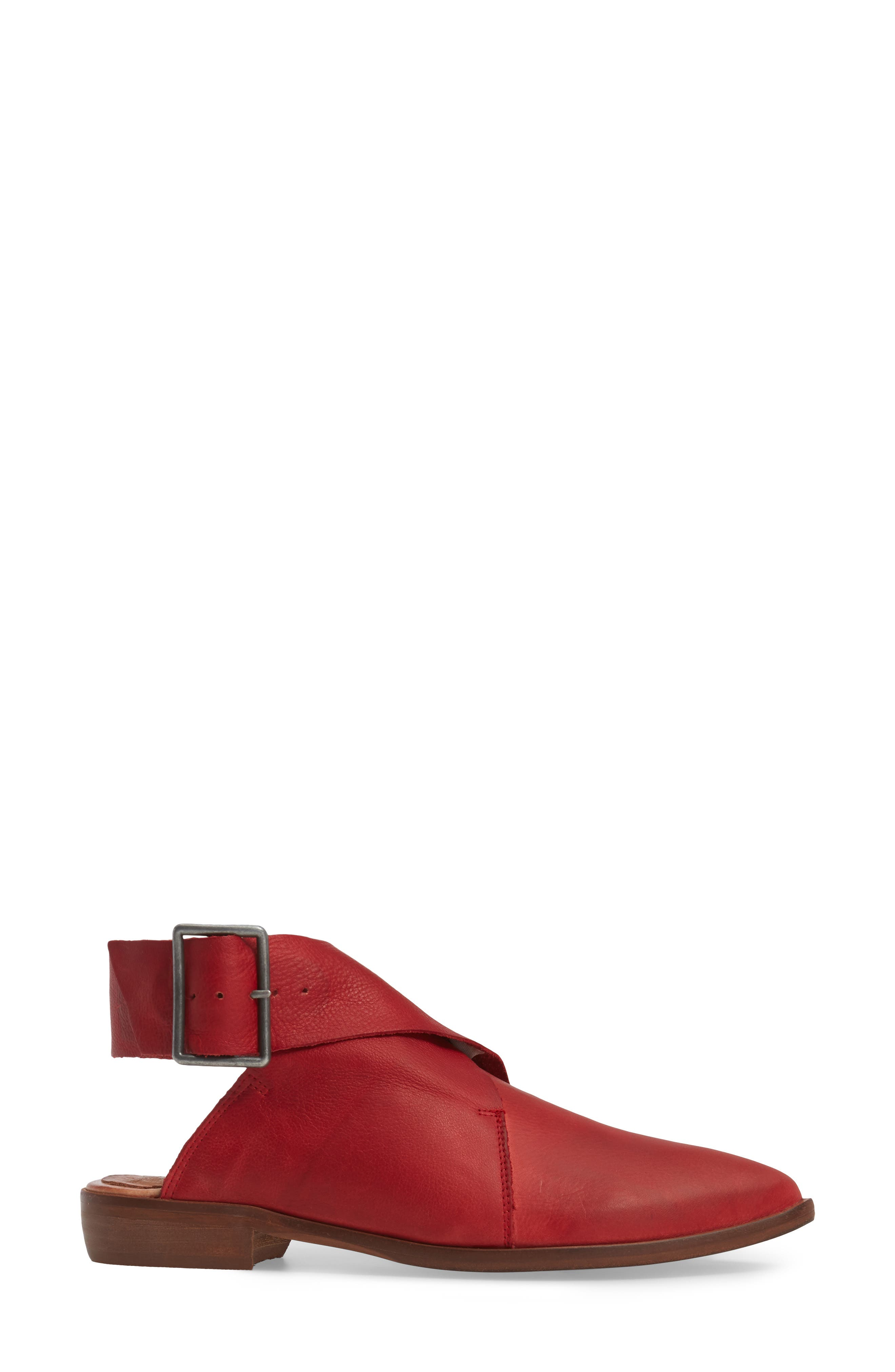 Bryce Buckle Wrap Flat,                             Alternate thumbnail 3, color,                             Red