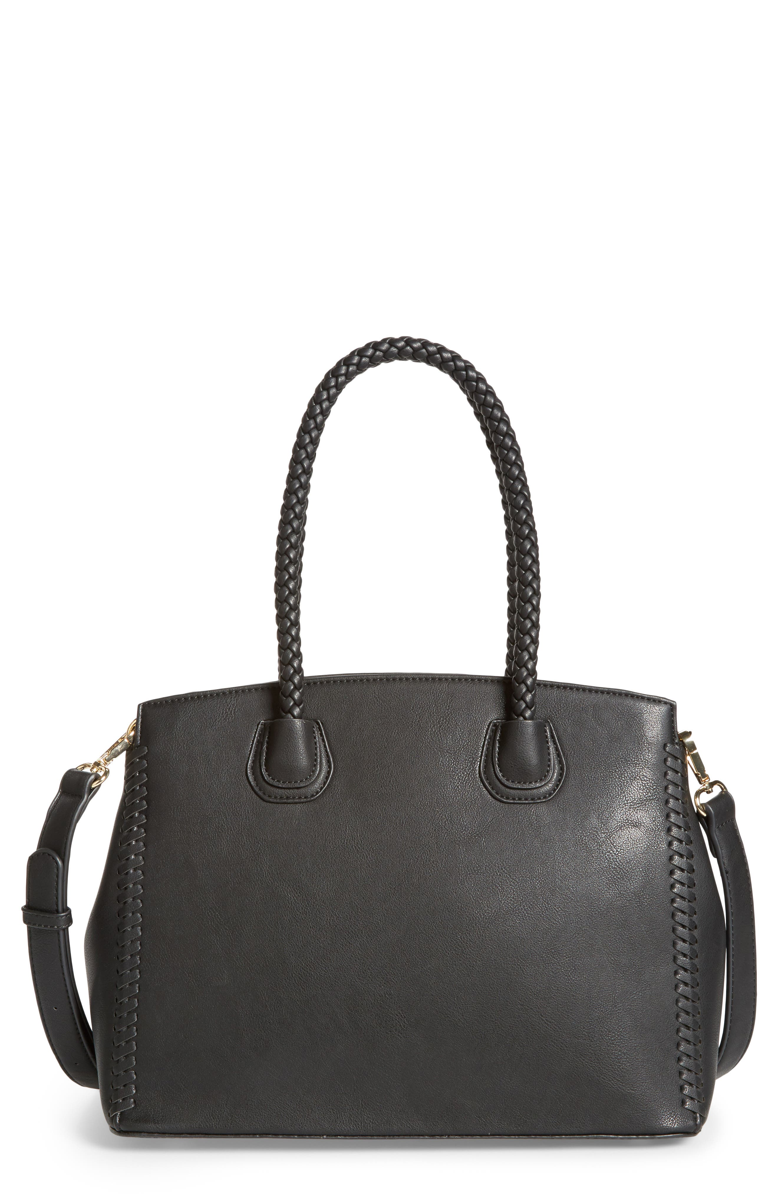 Sole Society Lexington Whipstitch Faux Leather Satchel