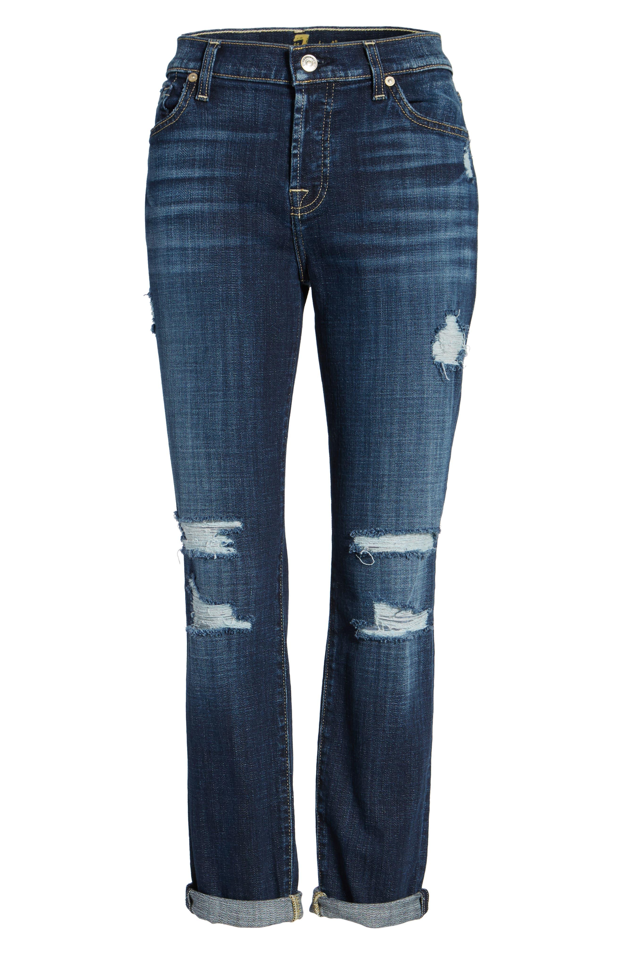 Josefina Boyfriend Jeans,                             Alternate thumbnail 8, color,                             Majestic Broken Twill