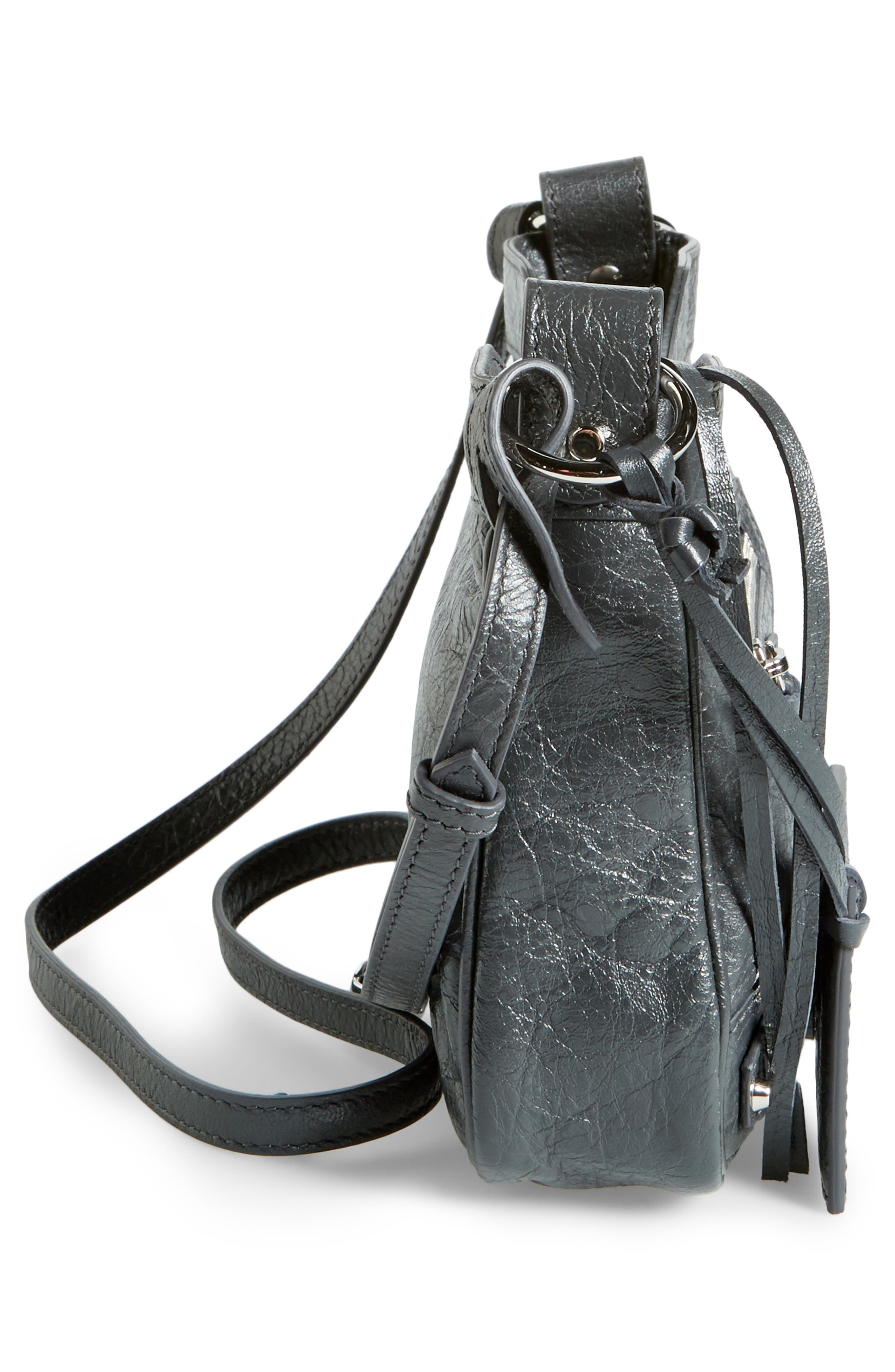 Alternate Image 5  - Balenciaga Hip Leather Crossbody Bag