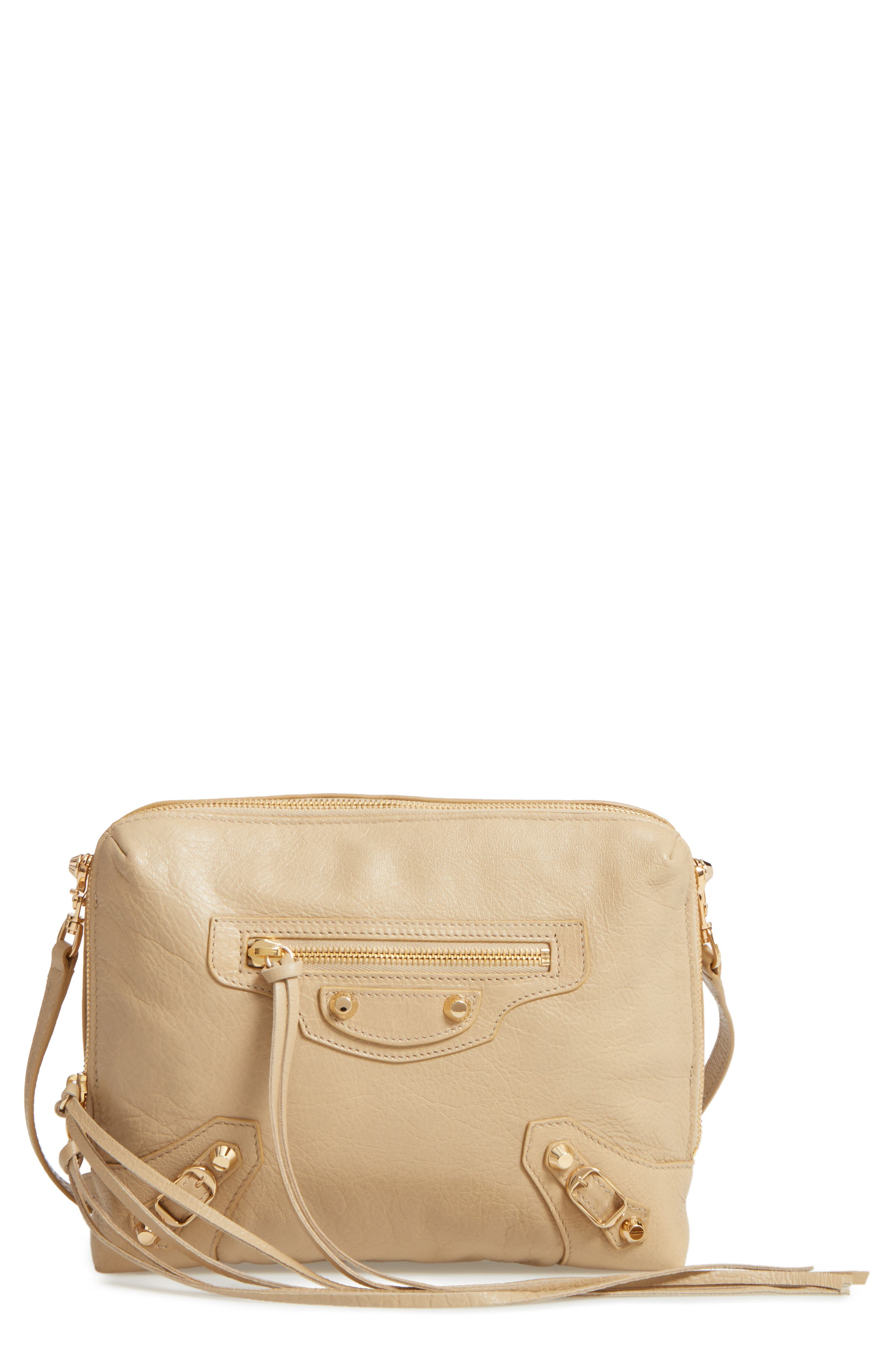Classic Reporter Leather Camera Bag,                             Main thumbnail 1, color,                             2616 Beige Sable