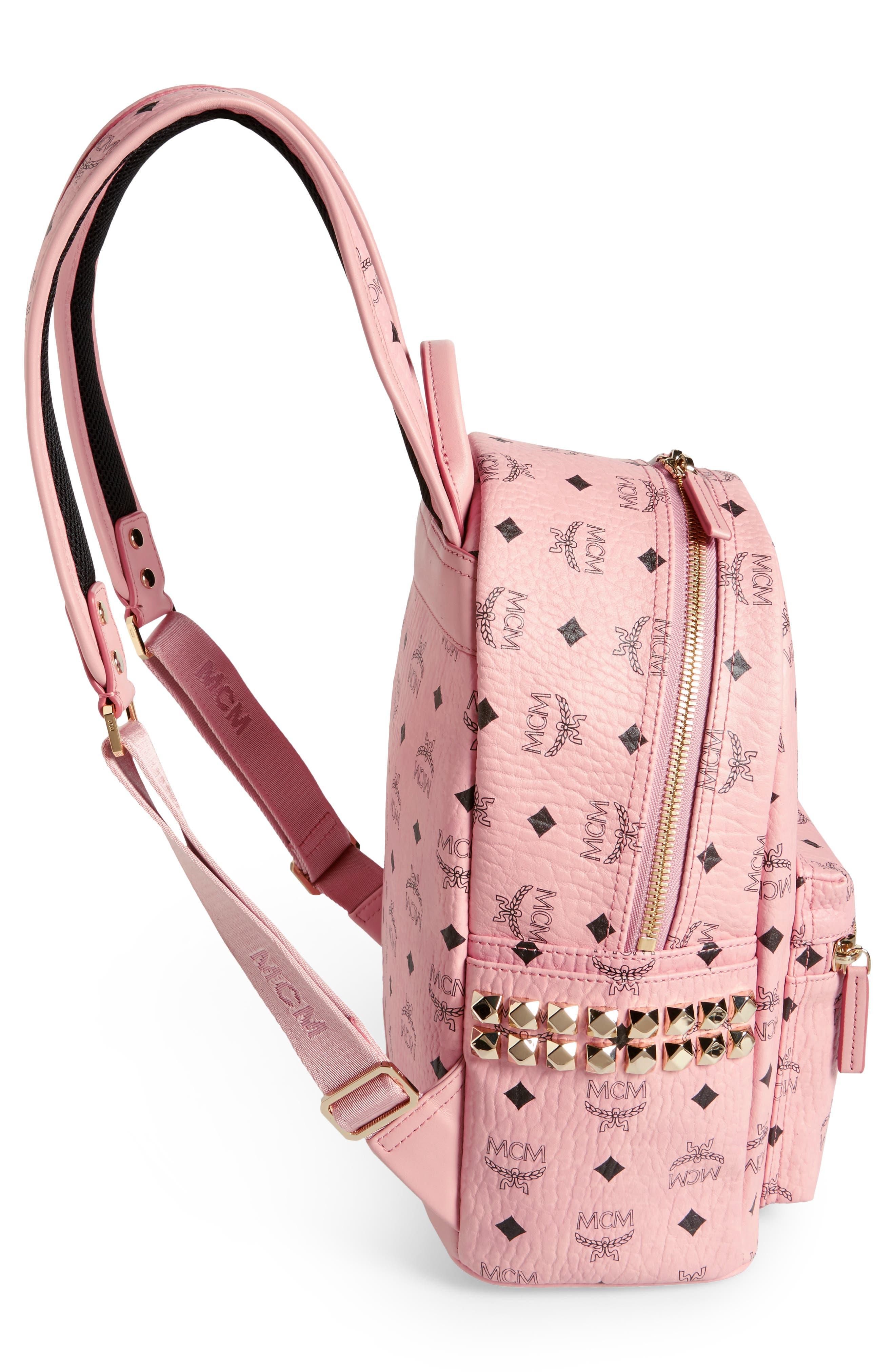 Alternate Image 5  - MCM Small Stark Side Stud Coated Canvas Backpack