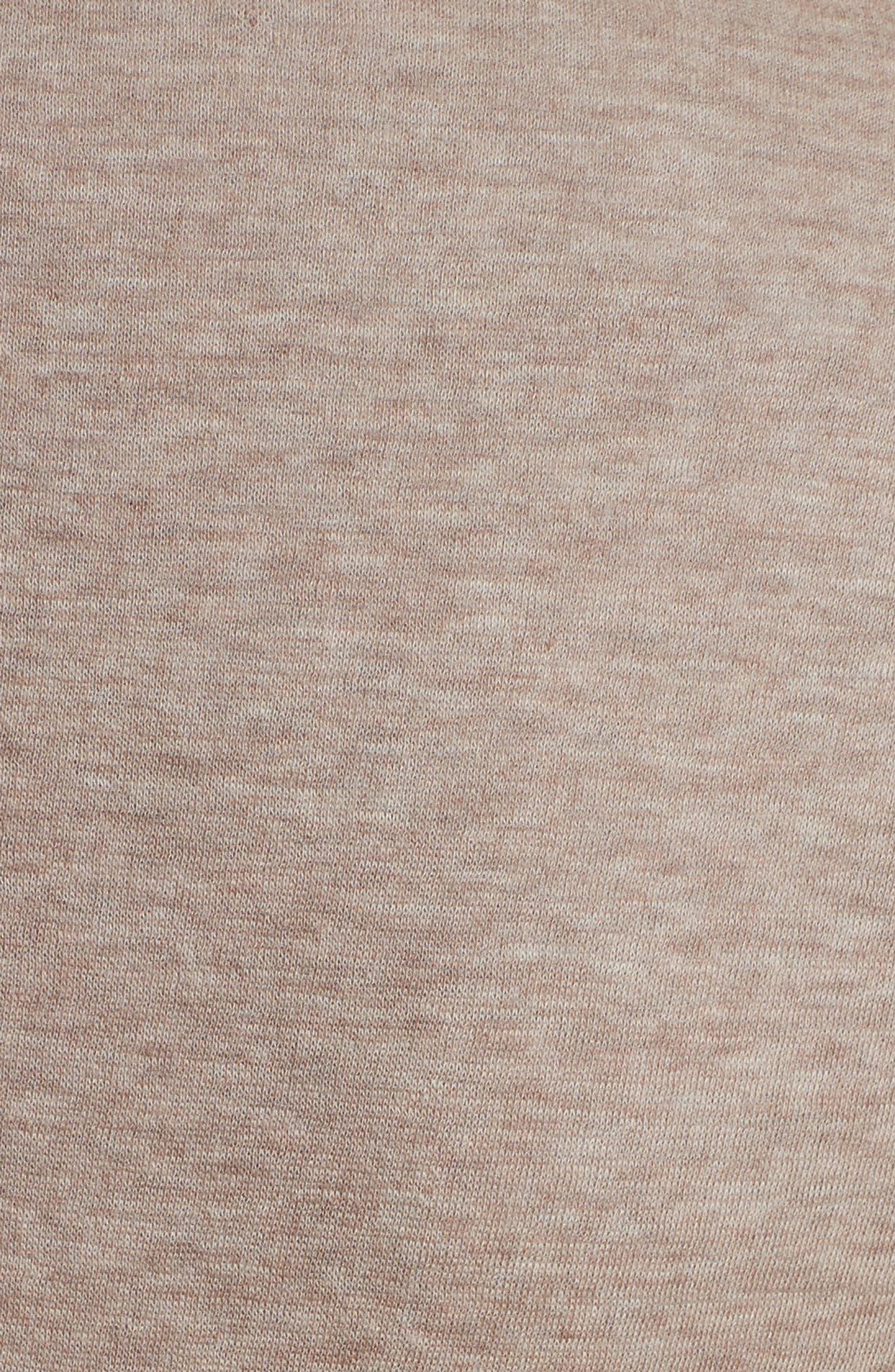 One-Button Cotton & Cashmere Blazer,                             Alternate thumbnail 5, color,                             Beige/ Grey