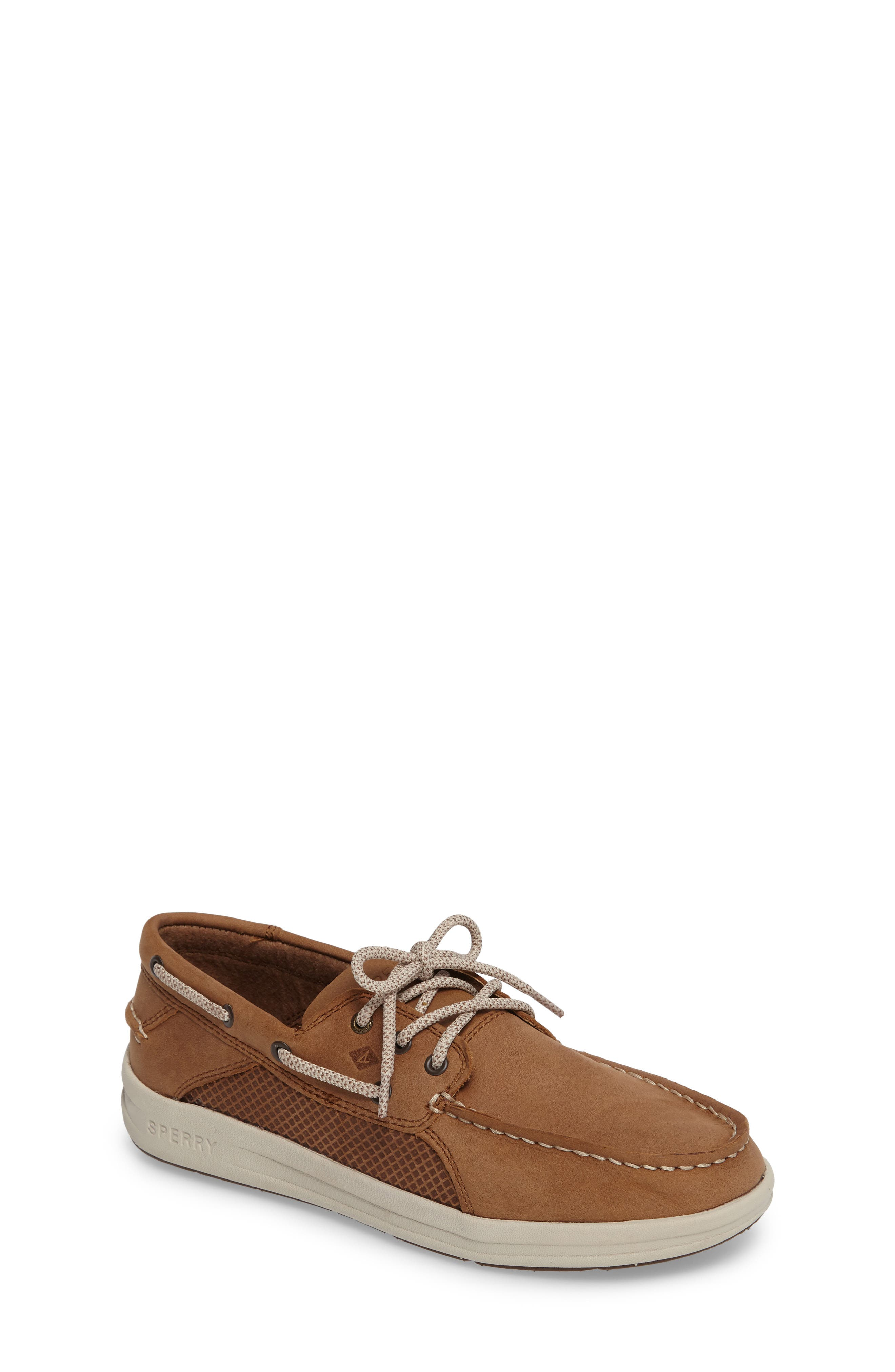 Sperry Gamefish Boat Shoe,                             Main thumbnail 1, color,                             Dark Tan