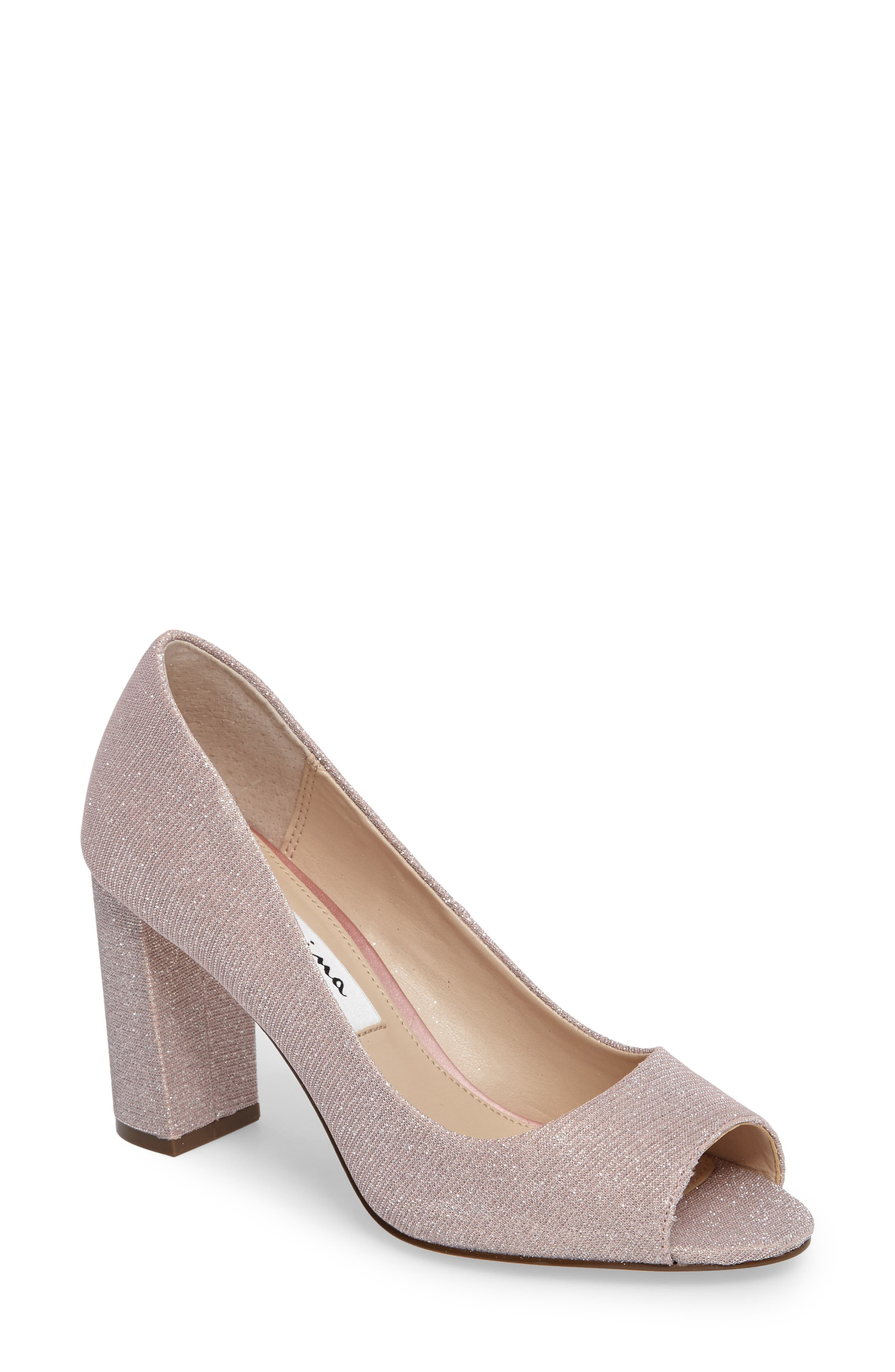 Nina Farlyn Peep Toe Pump (Women)