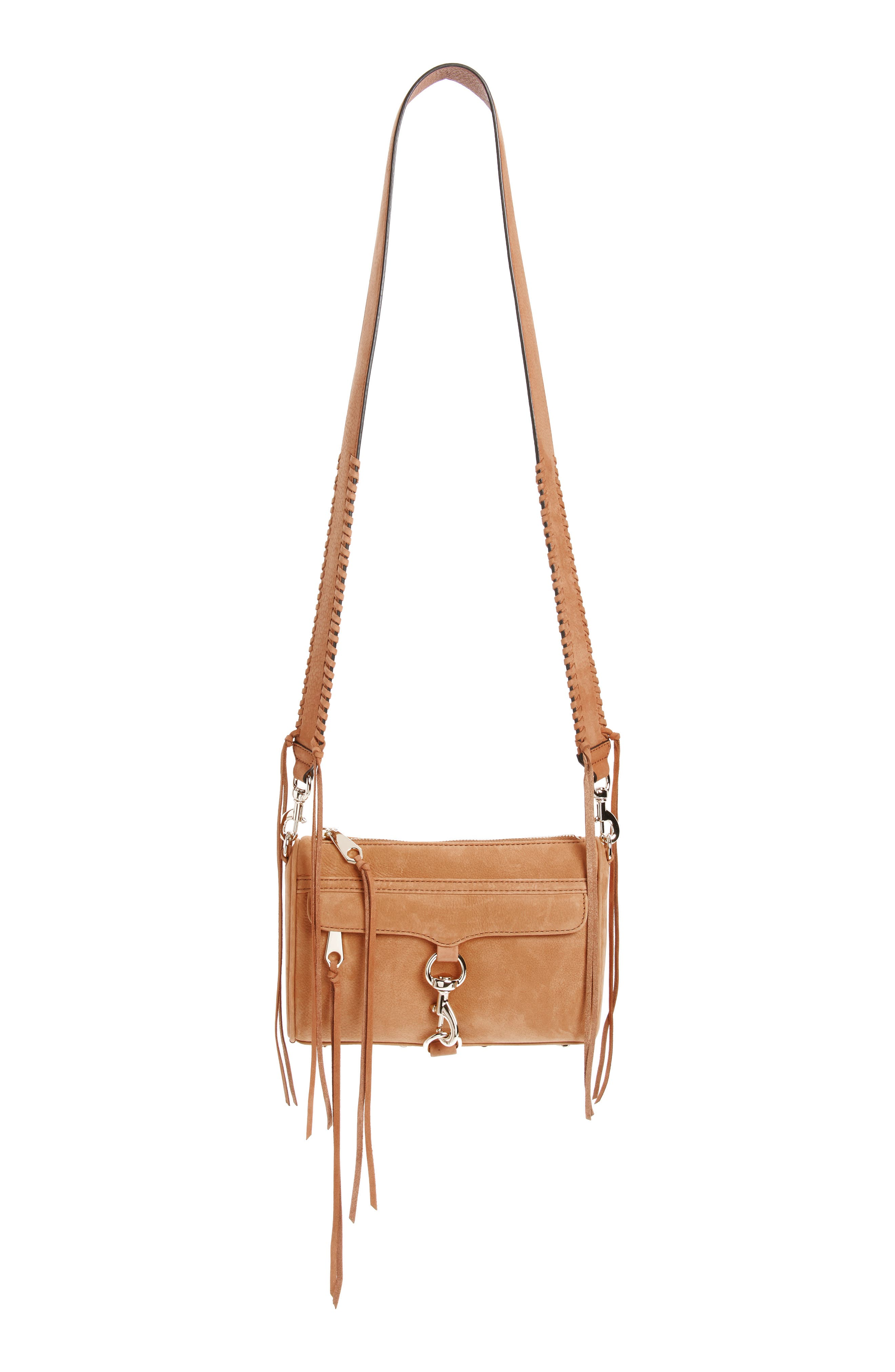 Mini MAC Convertible Crossbody Bag,                         Main,                         color, Almond