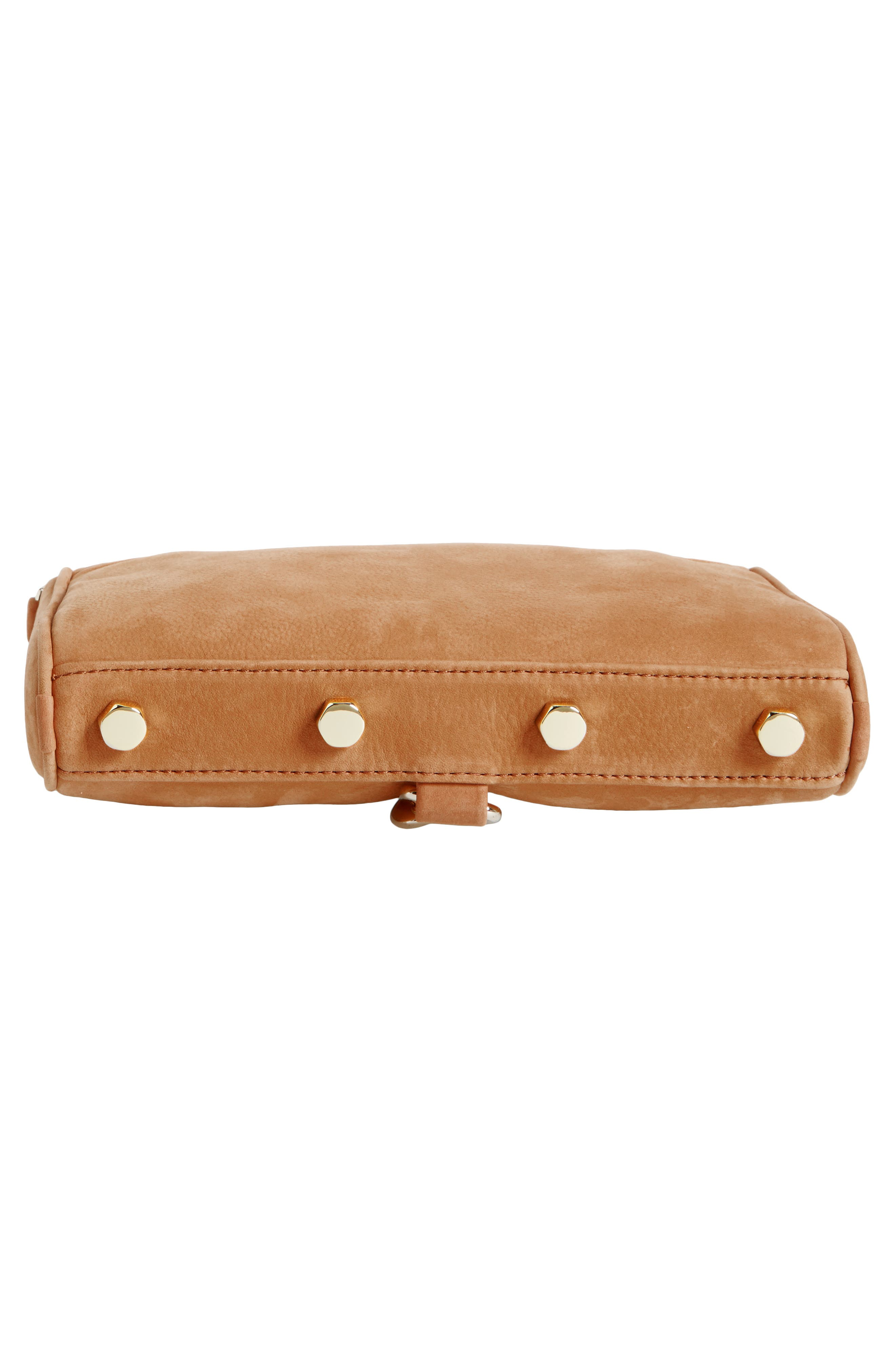 Mini MAC Convertible Crossbody Bag,                             Alternate thumbnail 6, color,                             Almond