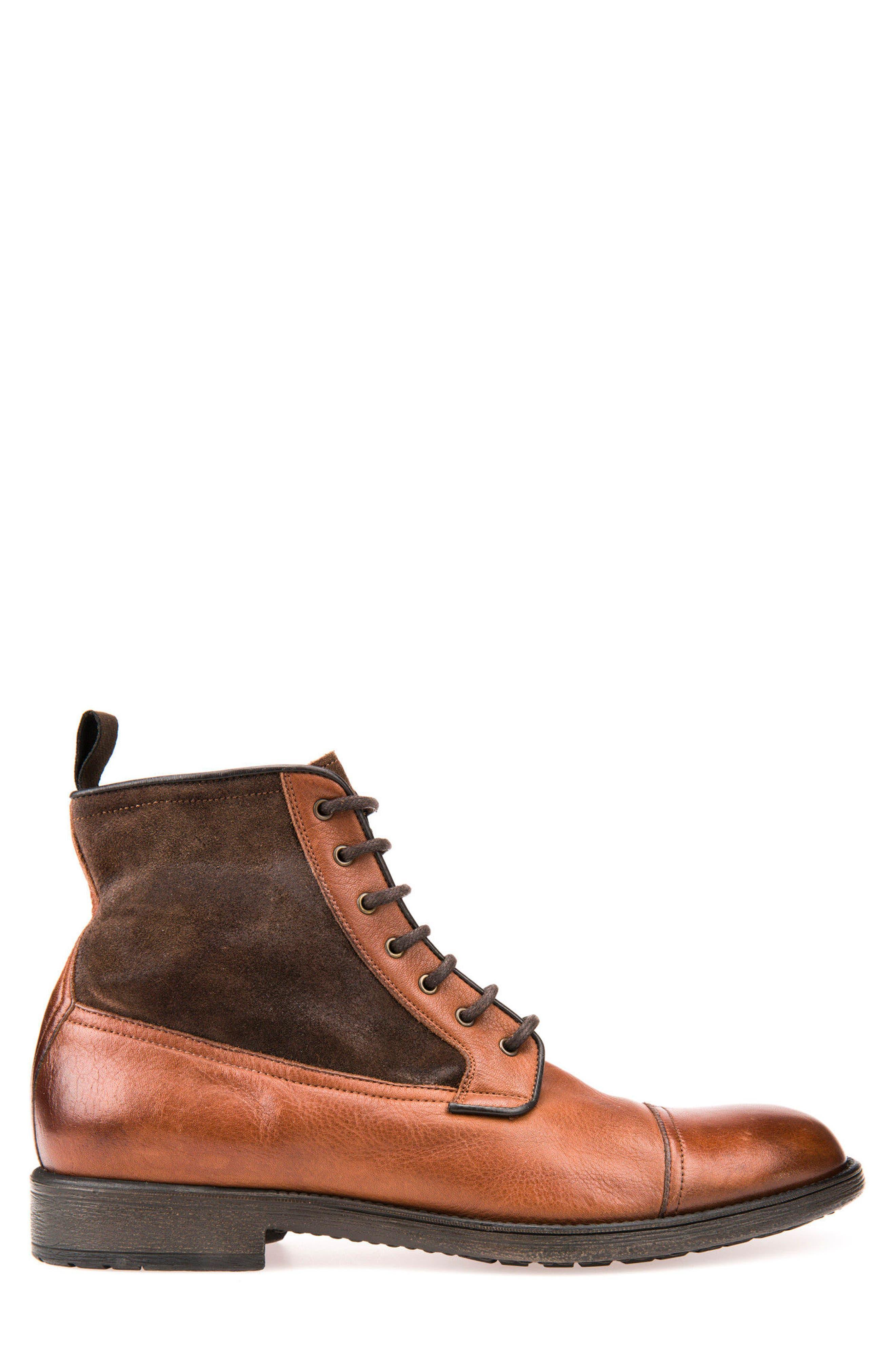 Jaylon 12 Cap-Toe Boot,                             Alternate thumbnail 3, color,                             Ebony
