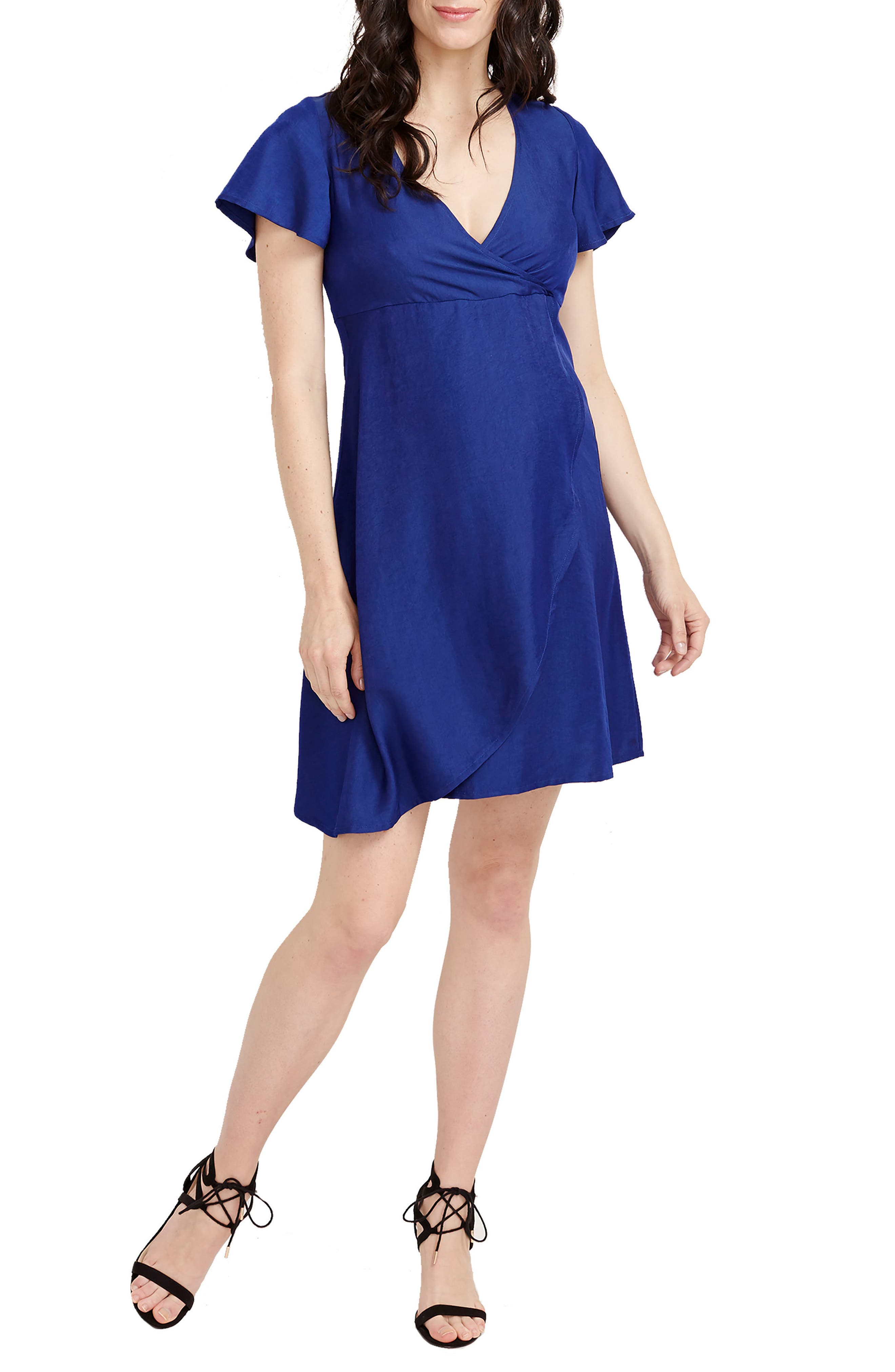 Grace Maternity Dress,                             Main thumbnail 1, color,                             Navy
