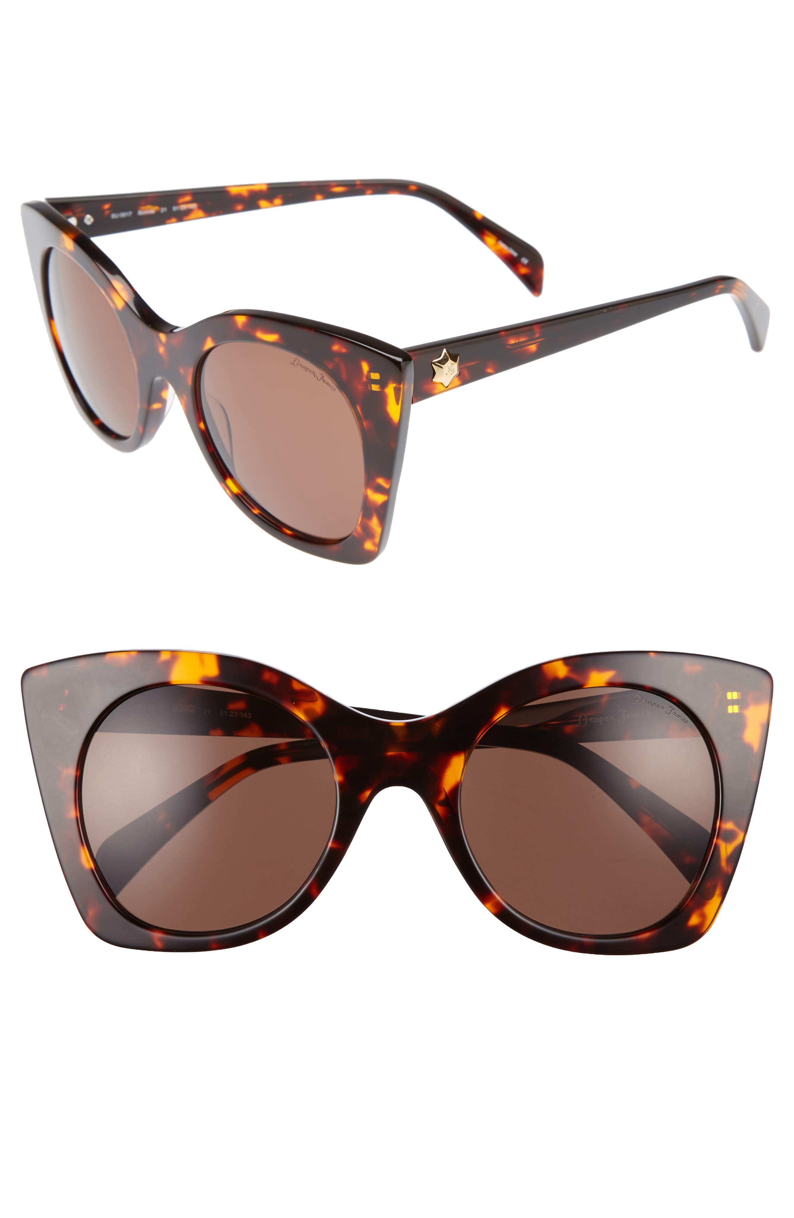 Alternate Image 1 Selected - Draper James 51mm Geometric Sunglasses