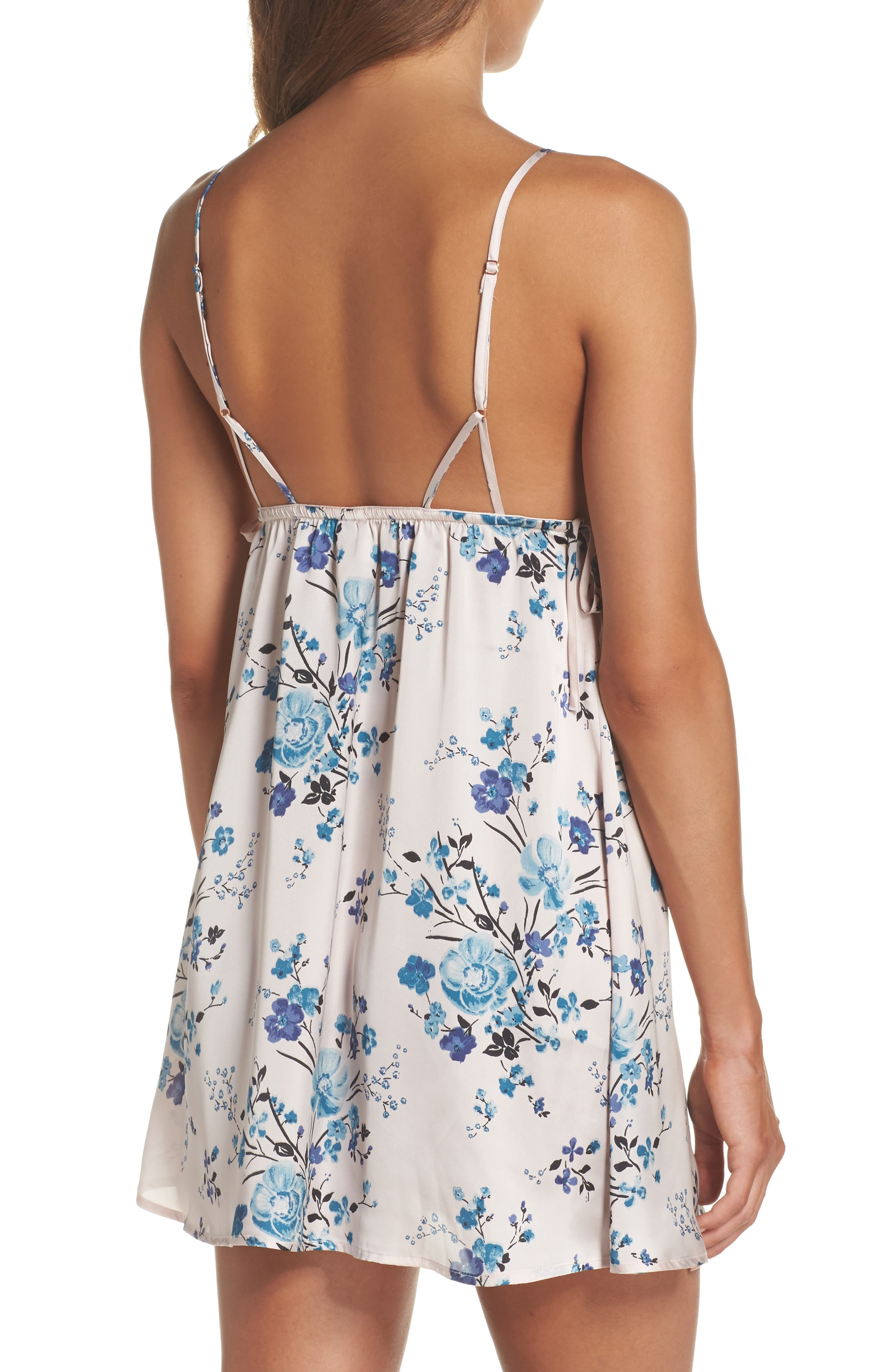 In My Dreams Chemise,                             Alternate thumbnail 2, color,                             Pink Morn Pretty Floral