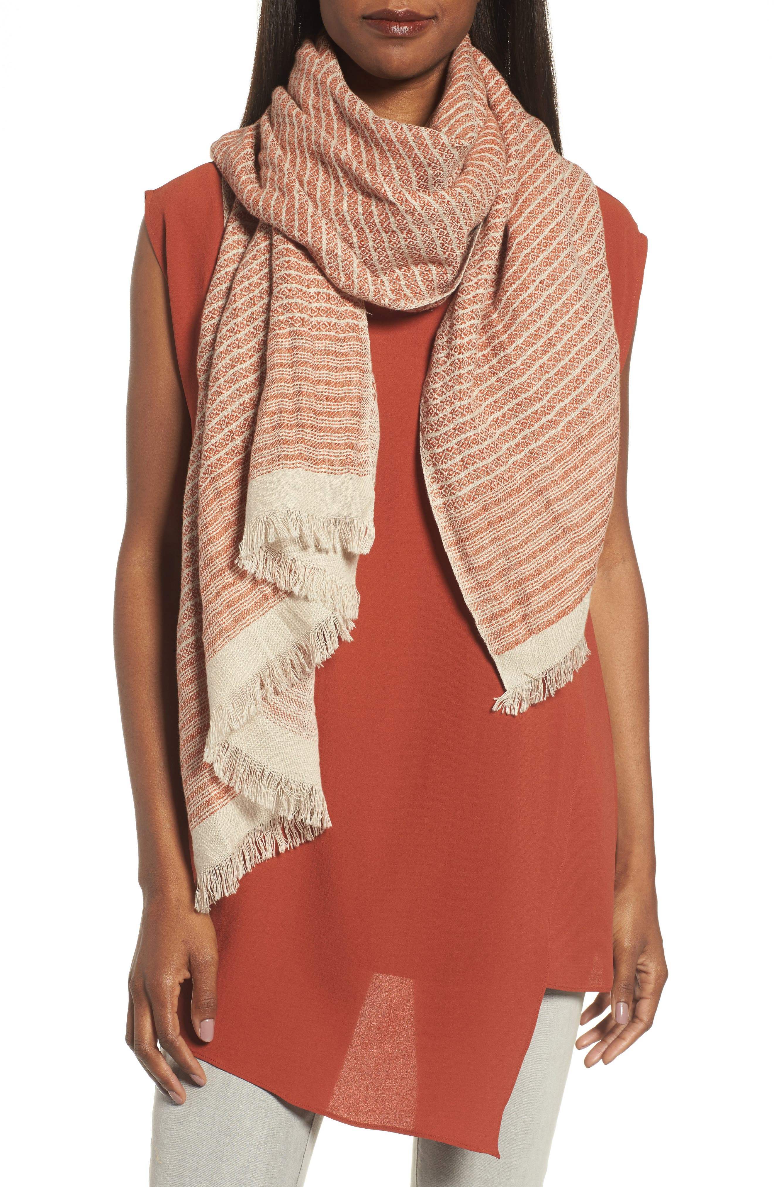 Eileen Fisher Linen & Organic Cotton Wrap