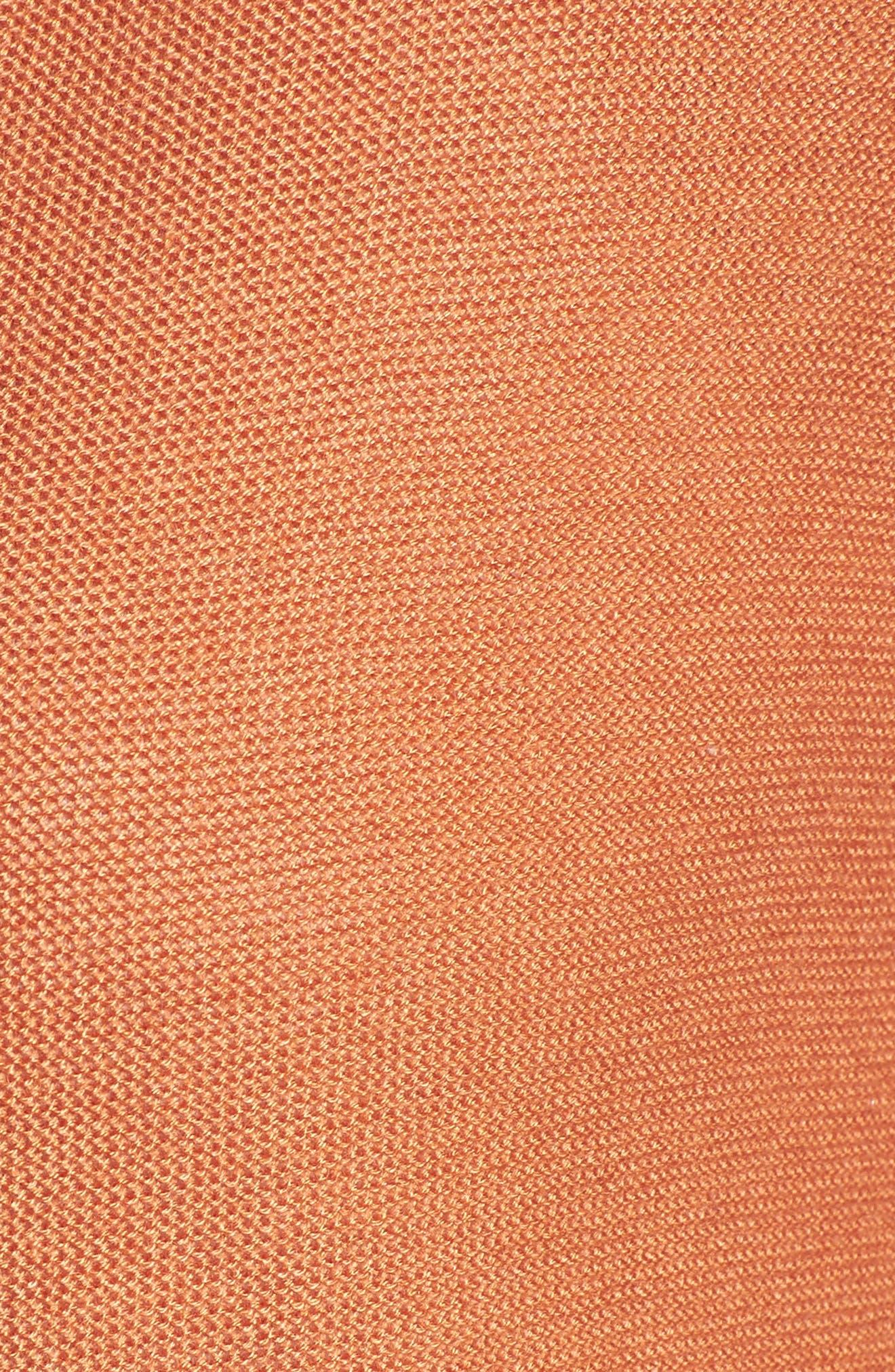 Simple Tencel<sup>®</sup> & Merino Wool Cardigan,                             Alternate thumbnail 5, color,                             Pumpkin