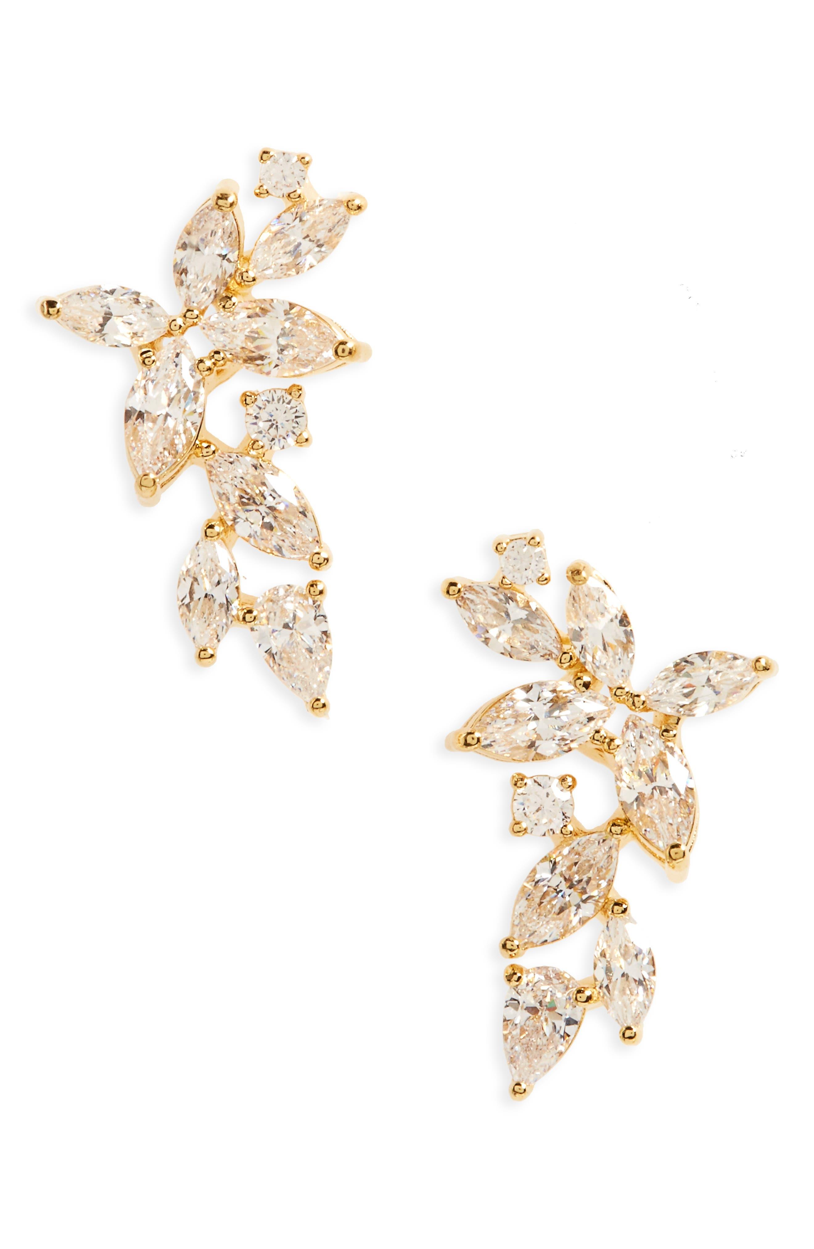 Alternate Image 1 Selected - Nadri Papillon Crystal Ear Crawlers