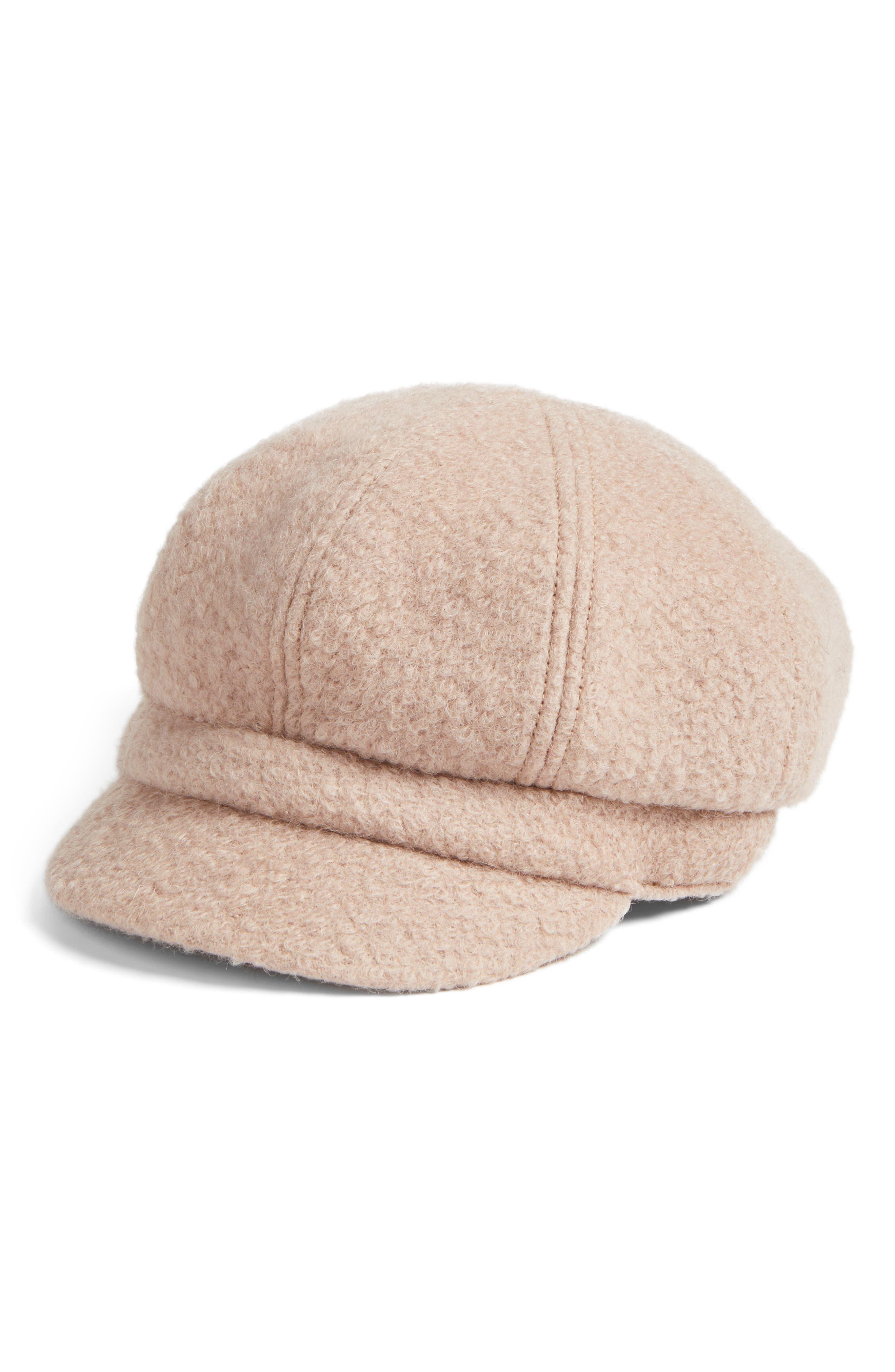 August Hat Boys are Back Bouclé Newsboy Cap
