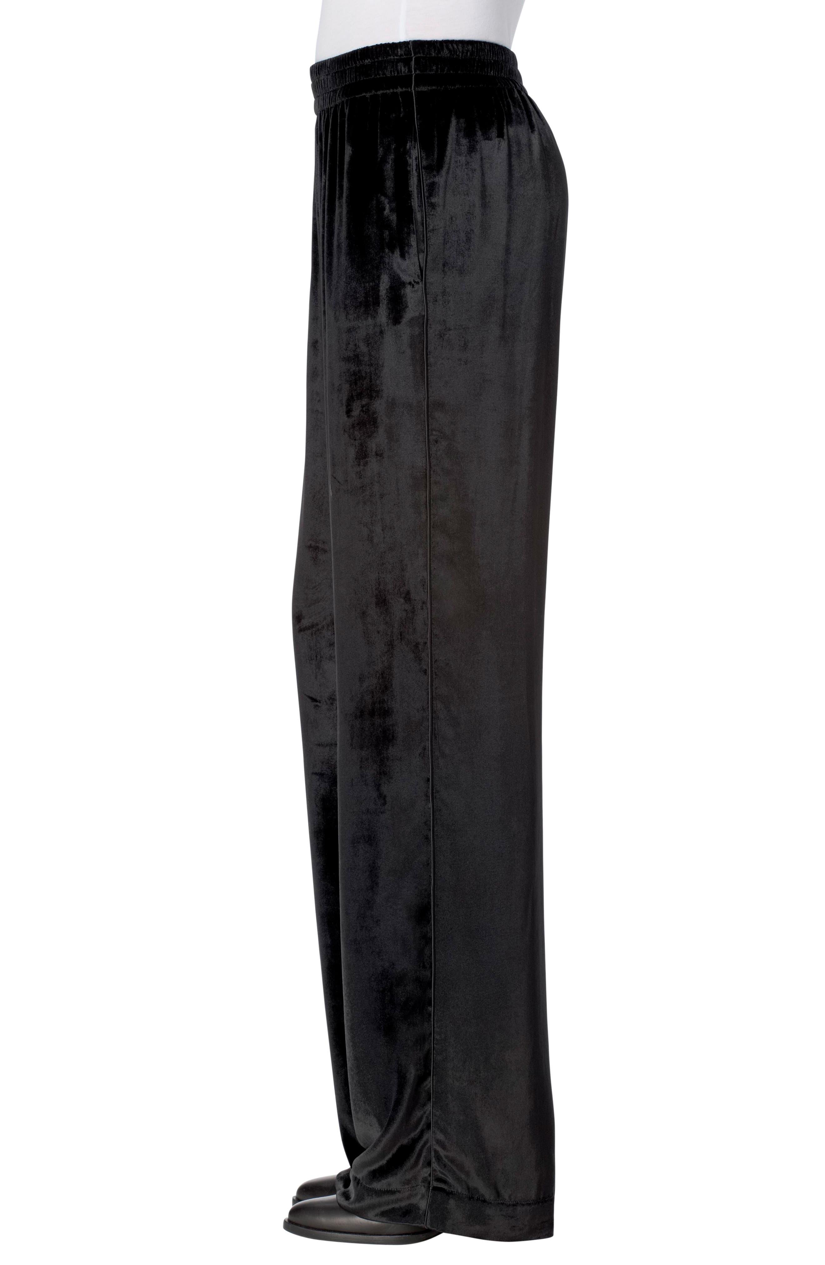 Ardon Velvet Pants,                             Alternate thumbnail 3, color,                             Black
