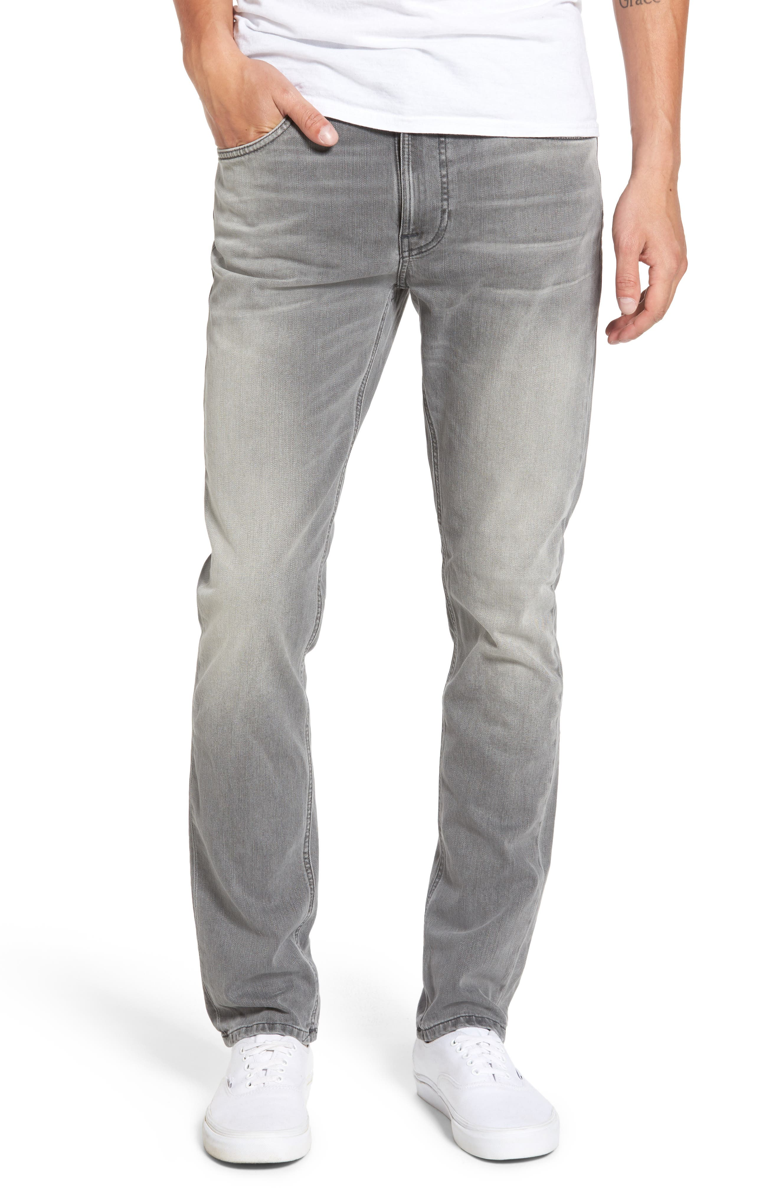 Alternate Image 1 Selected - Nudie Jeans Lean Dean Slouchy Skinny Fit Jeans (Grey Ace)