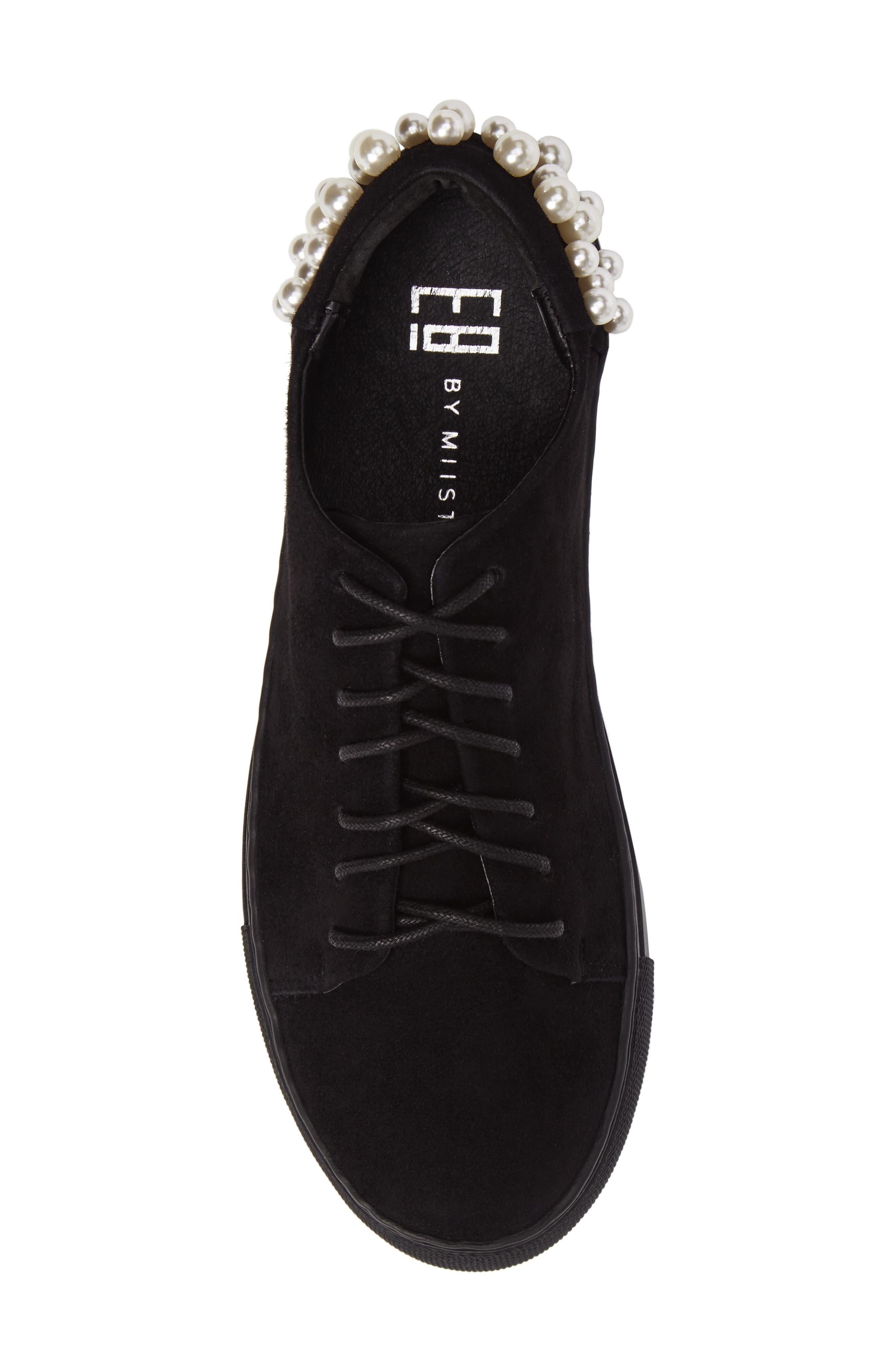 Haig Embellished Sneaker,                             Alternate thumbnail 5, color,                             Black