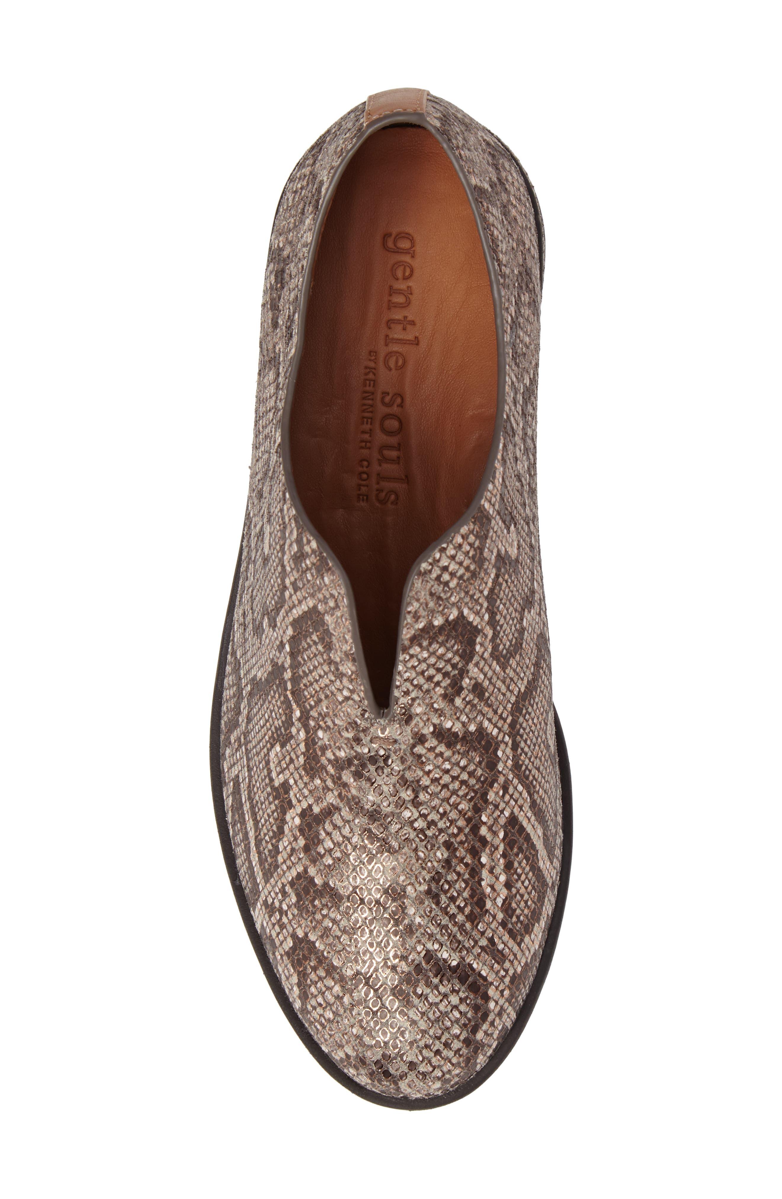 Hanna Slip-On Sneaker,                             Alternate thumbnail 5, color,                             Rose Gold Leather