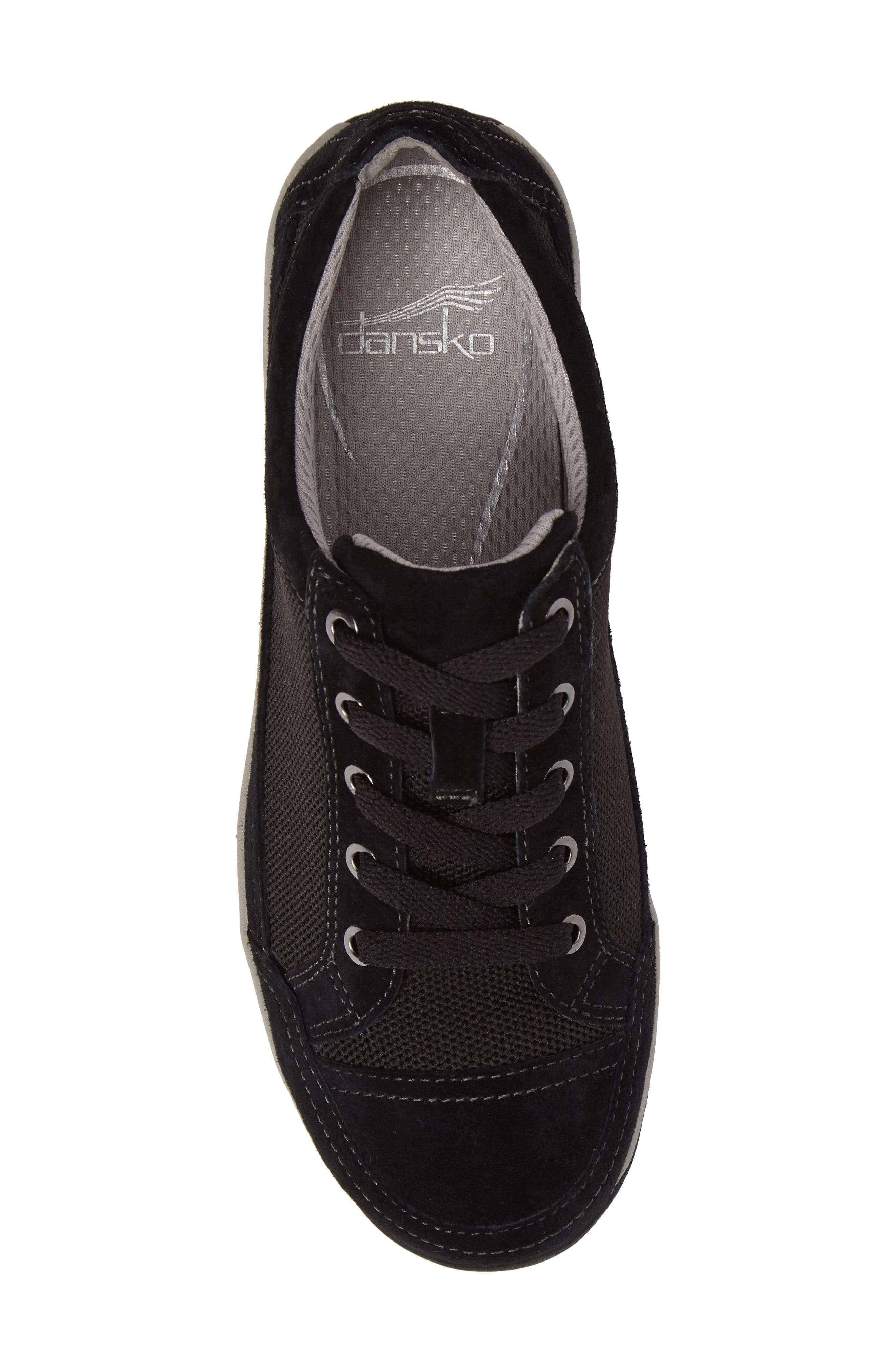 Harmony Sneaker,                             Alternate thumbnail 5, color,                             Black Suede