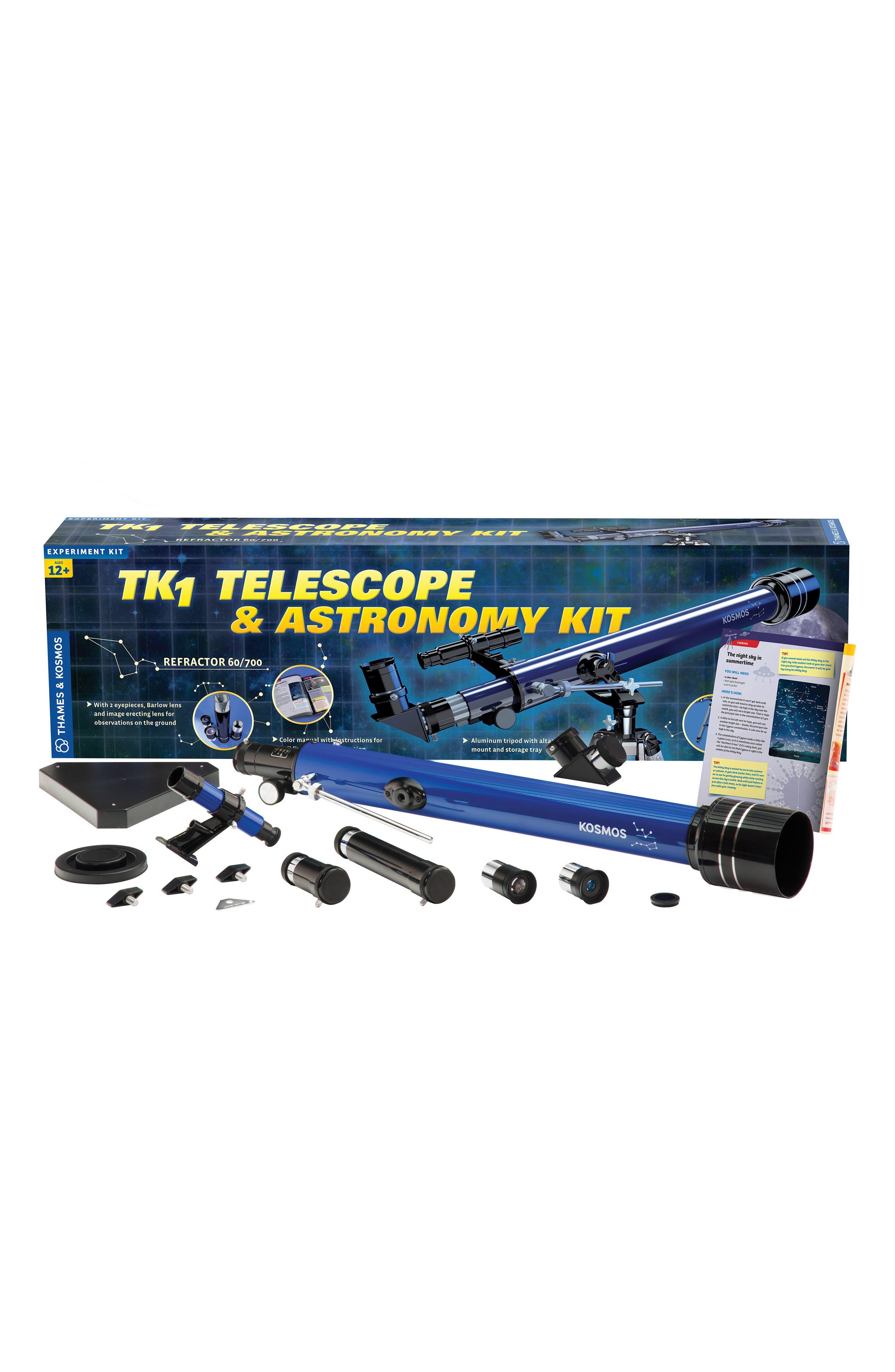 'TK1' Telescope & Astronomy Kit,                             Main thumbnail 1, color,                             Blue