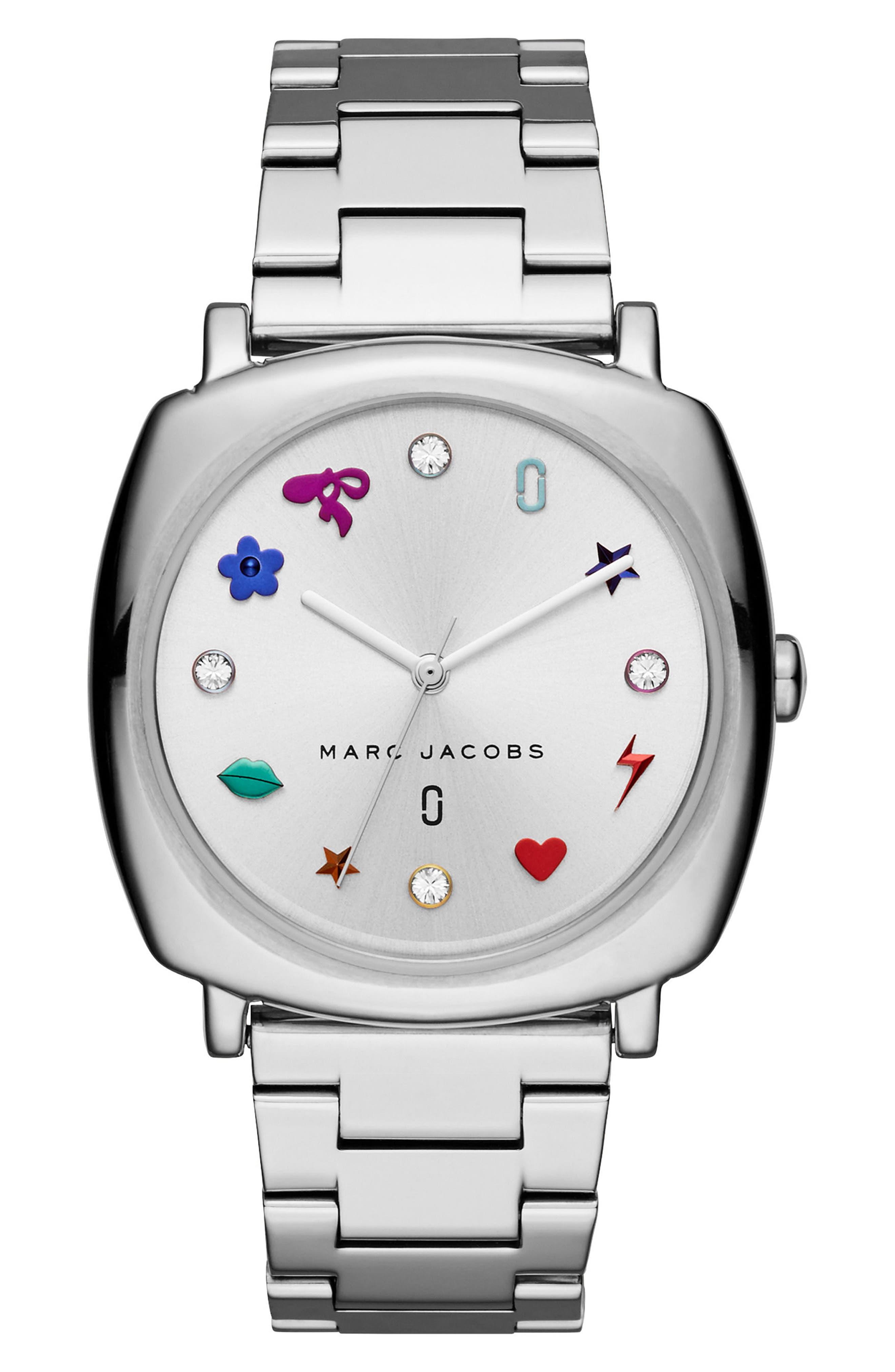Main Image - MARC JACOBS Mandy Bracelet Watch, 34mm