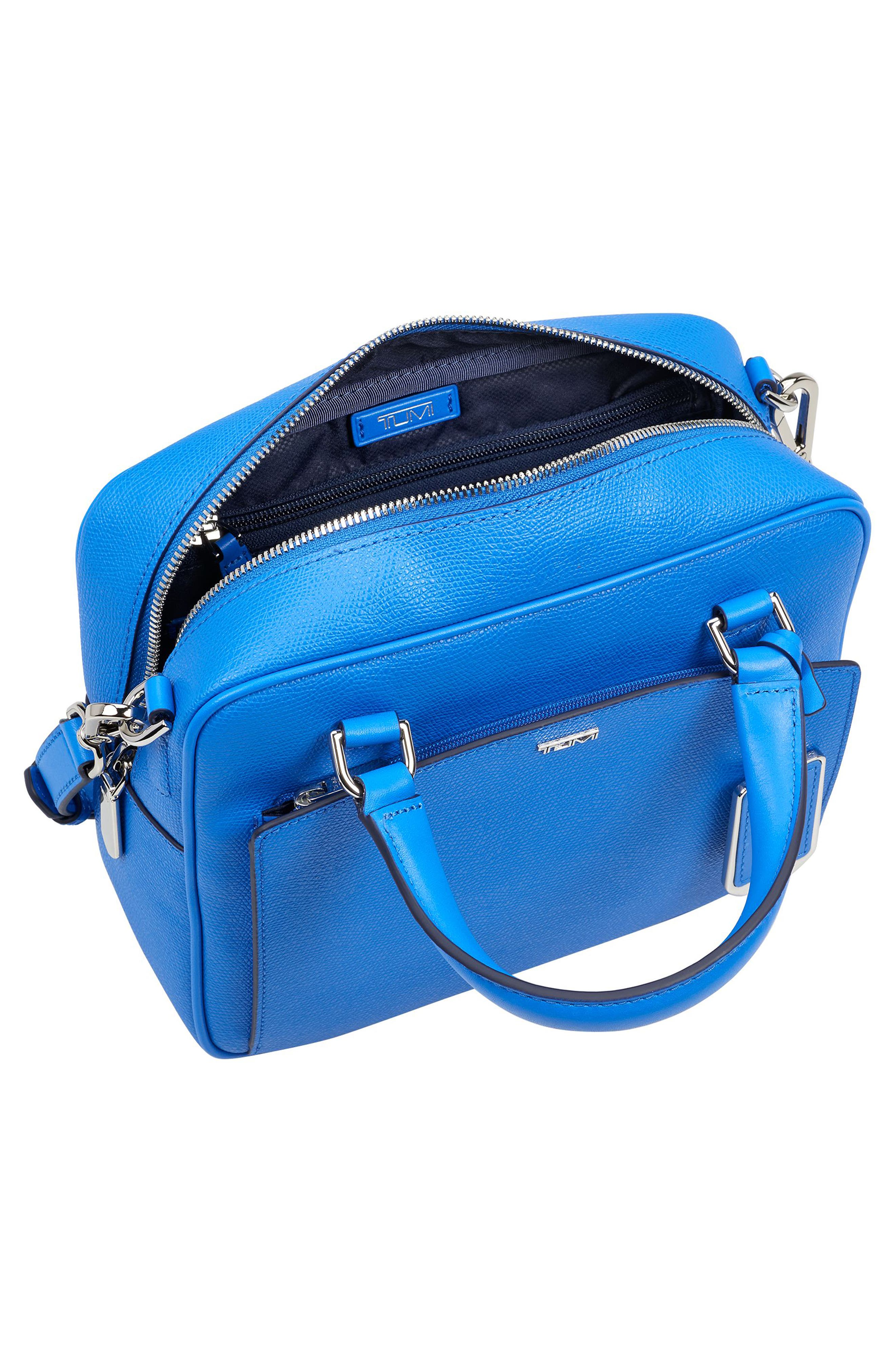 Aidan Coated Canvas Crossbody Bag,                             Alternate thumbnail 3, color,                             Electric Blue