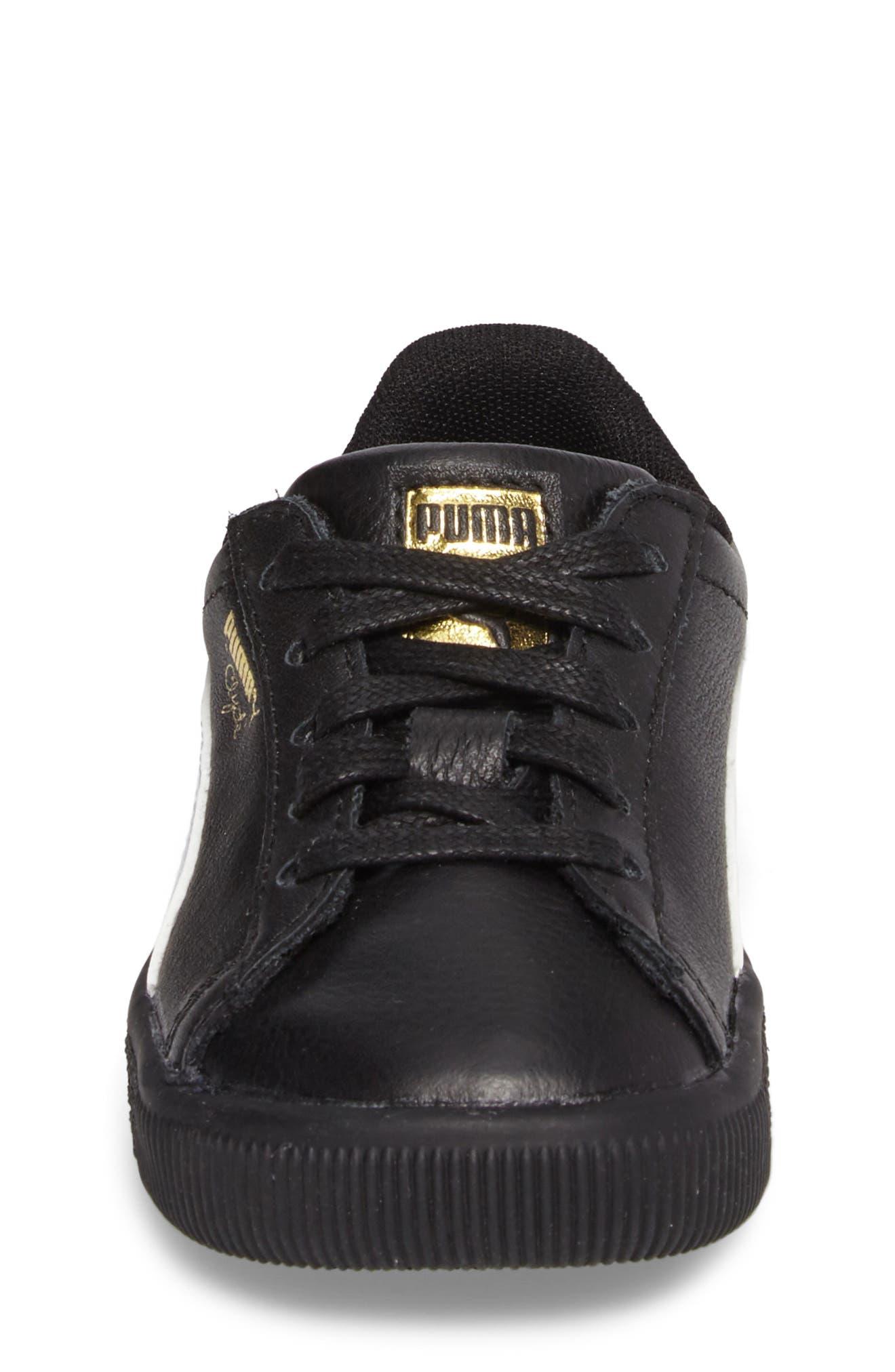 Alternate Image 4  - PUMA Clyde Core Foil Sneaker (Baby, Walker & Toddler)