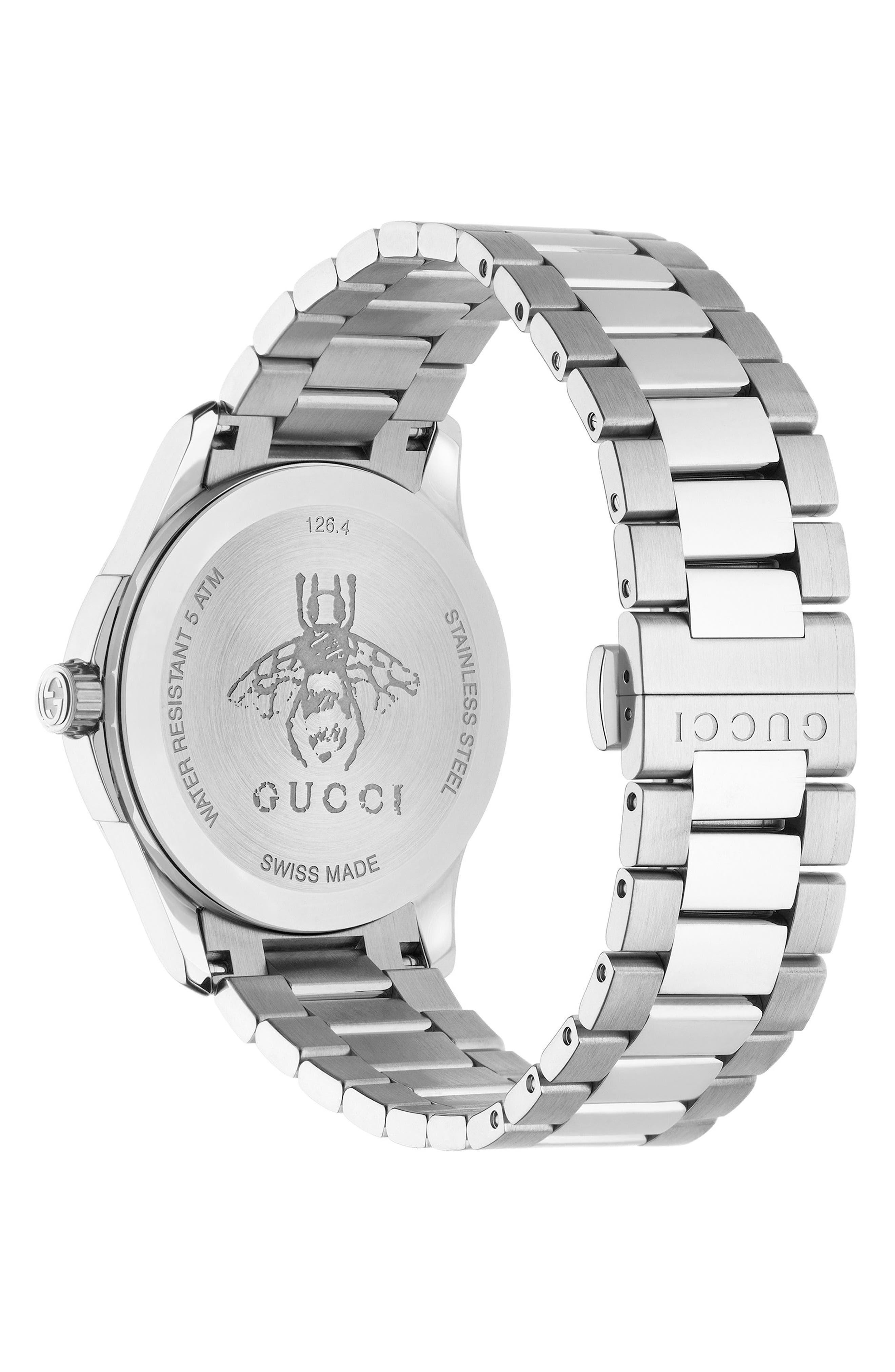 Alternate Image 2  - Gucci G-Timeless Bracelet Watch, 38mm