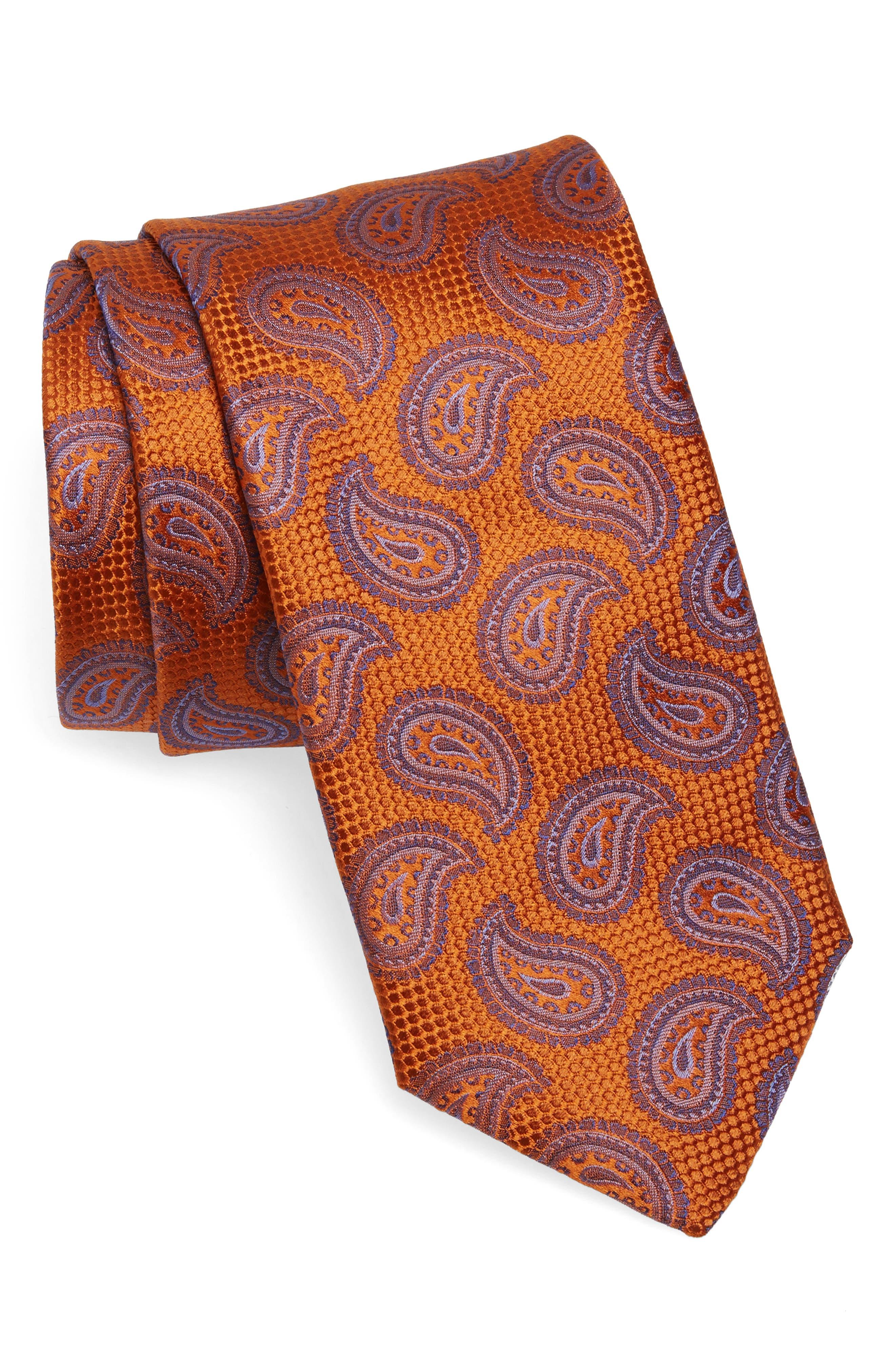 Main Image - Canali Paisley Silk Tie