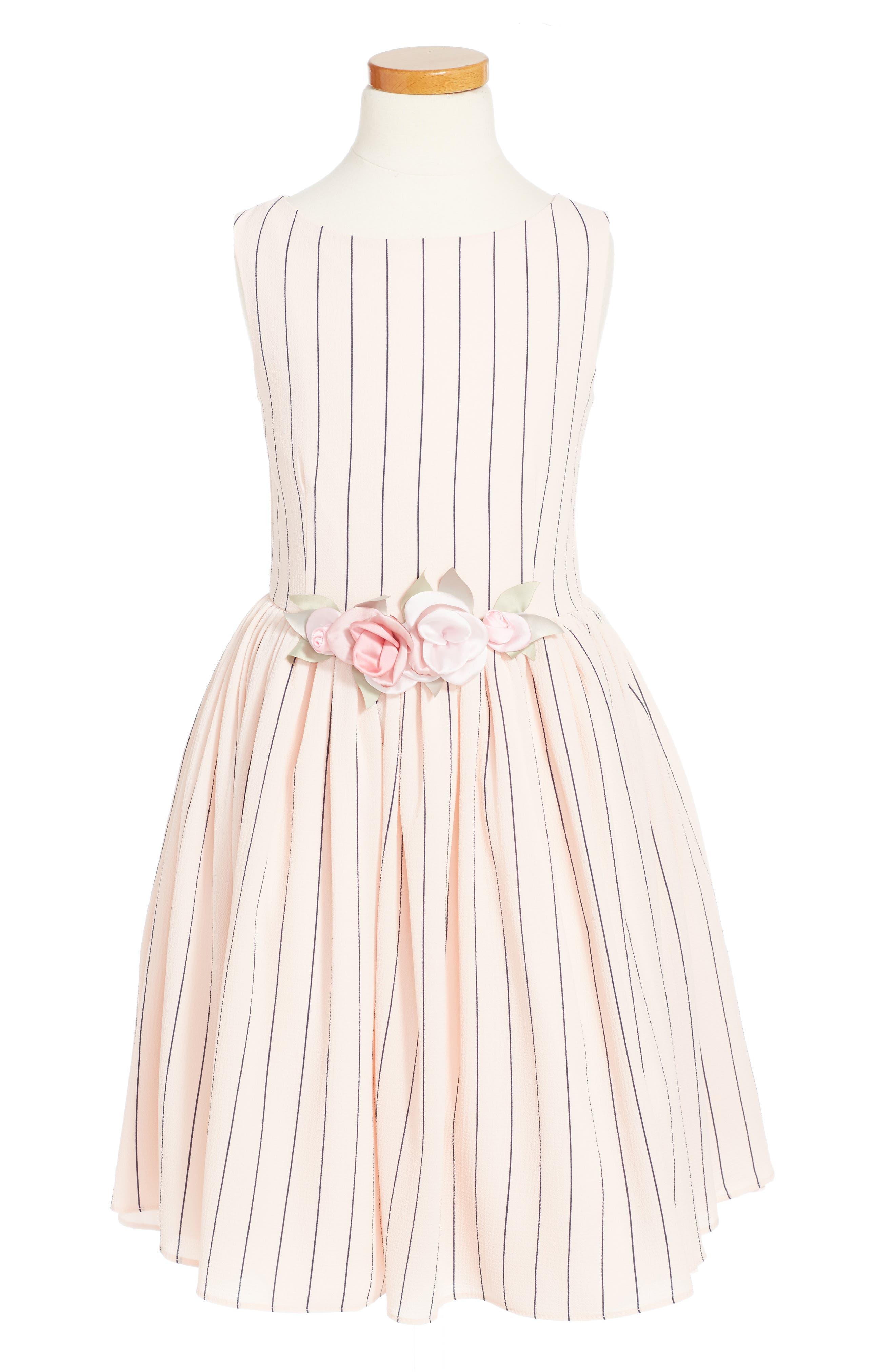 Stripe Dress,                         Main,                         color, Blush Navy