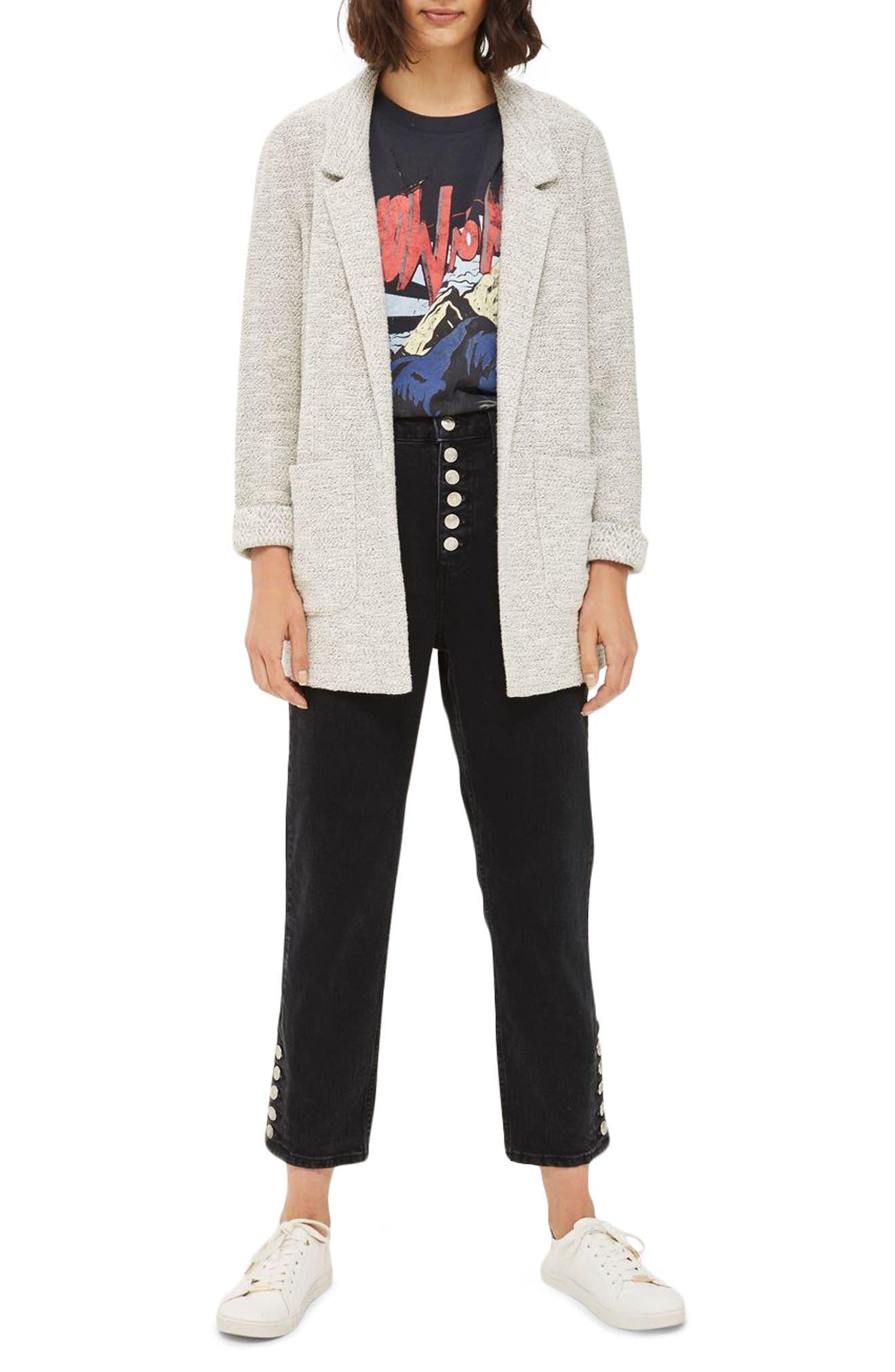 Main Image - Topshop Textured Jersey Blazer