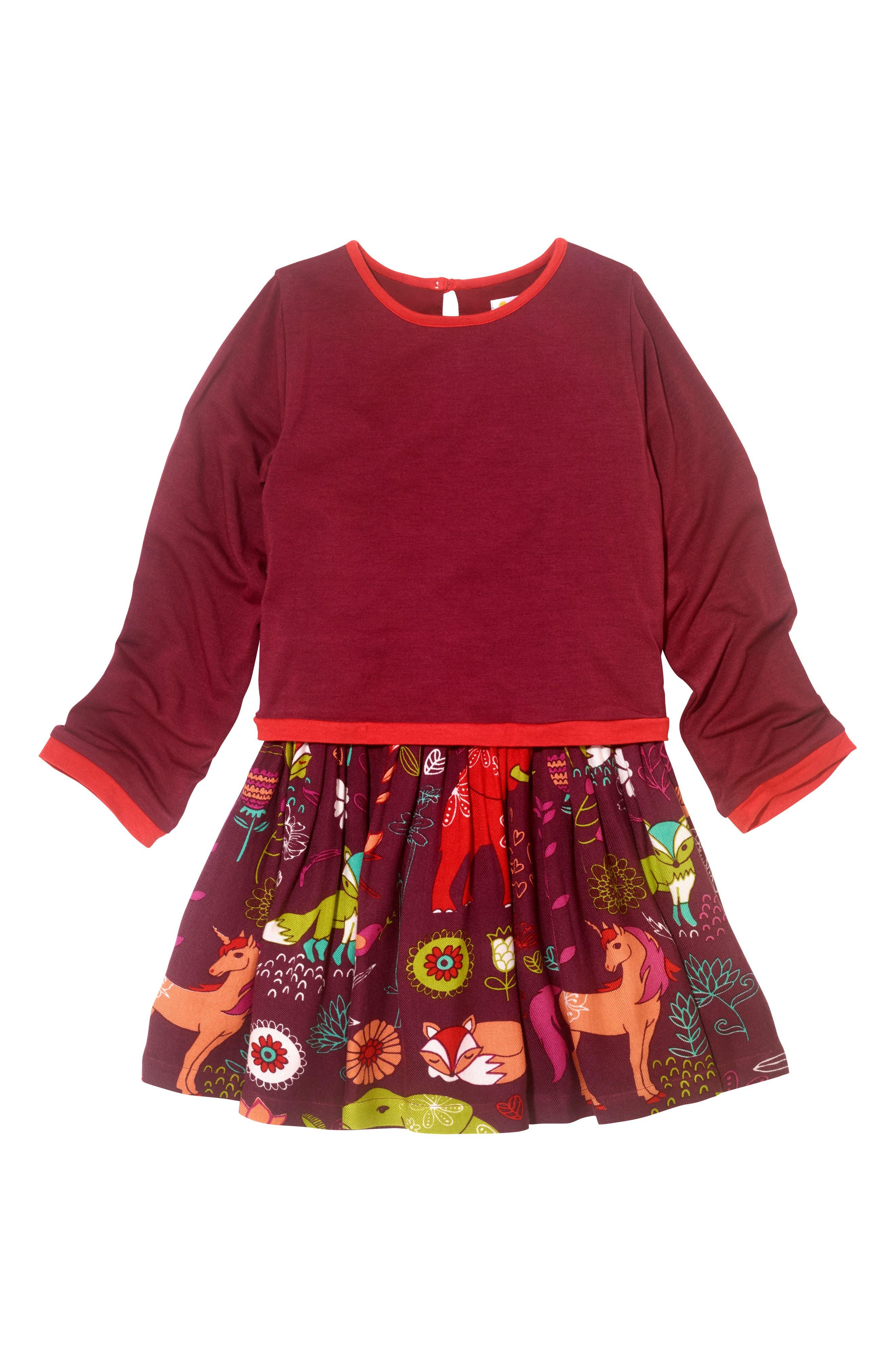 Forest Hills Dress,                         Main,                         color, Burgundy