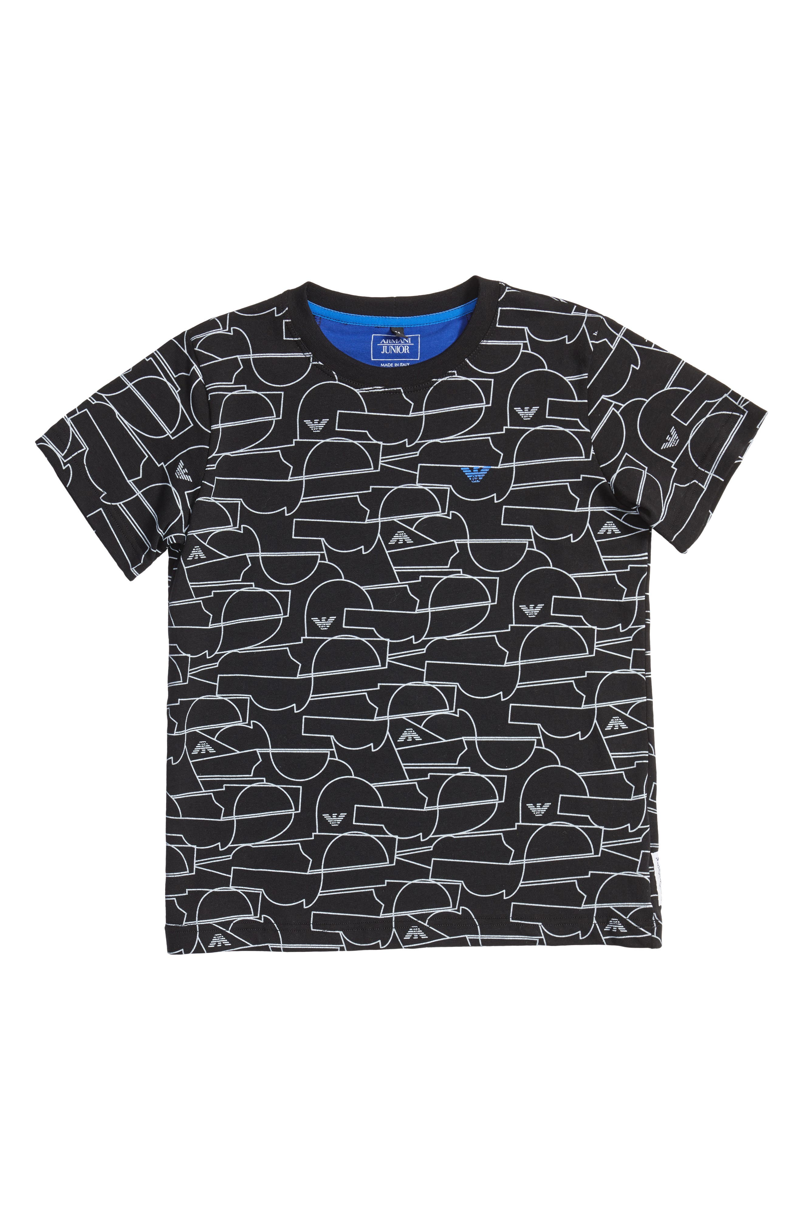 Main Image - Armani Junior Geo Print T-Shirt (Little Boys & Big Boys)
