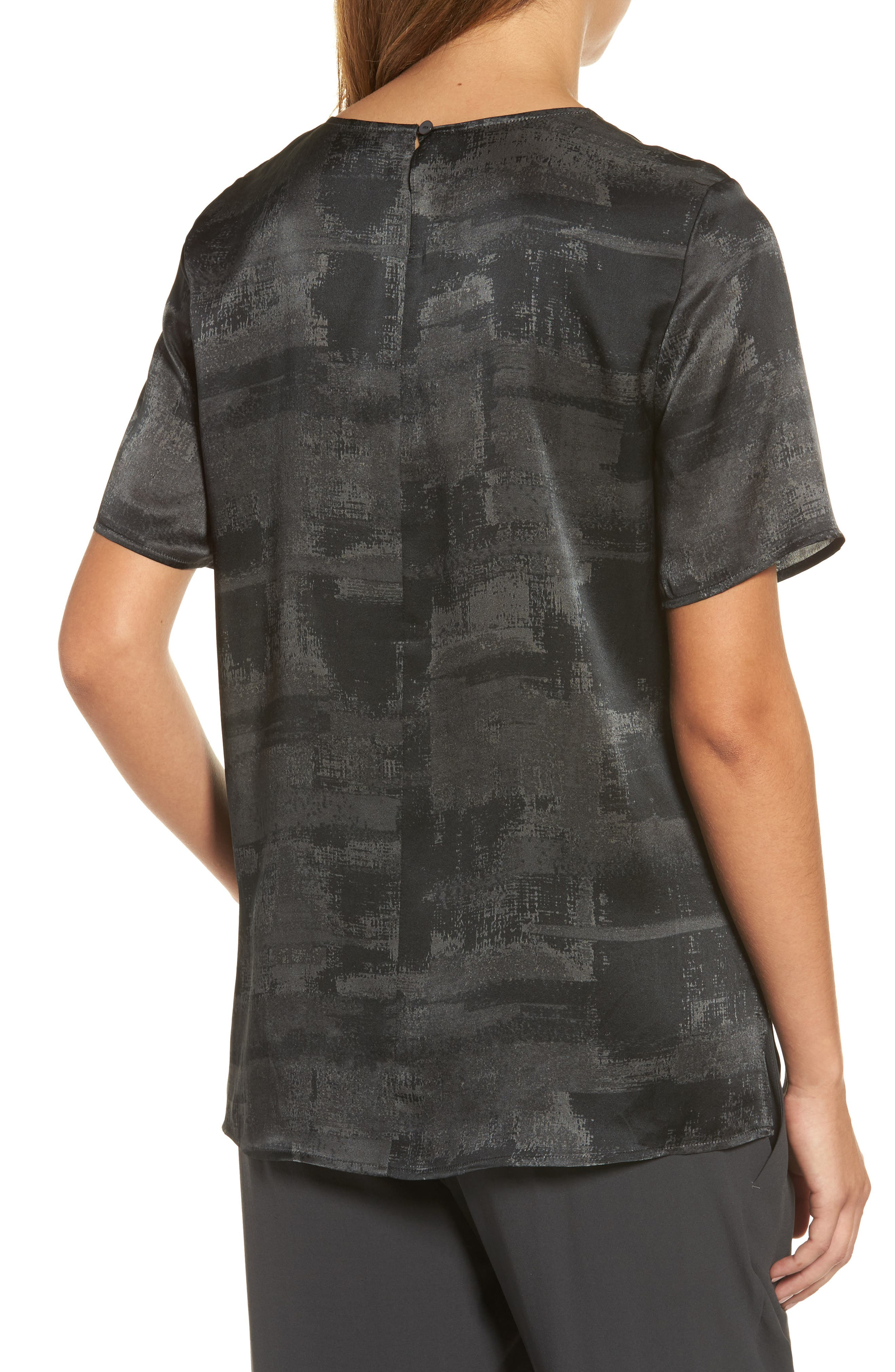 Alternate Image 2  - Eileen Fisher Print Silk Top