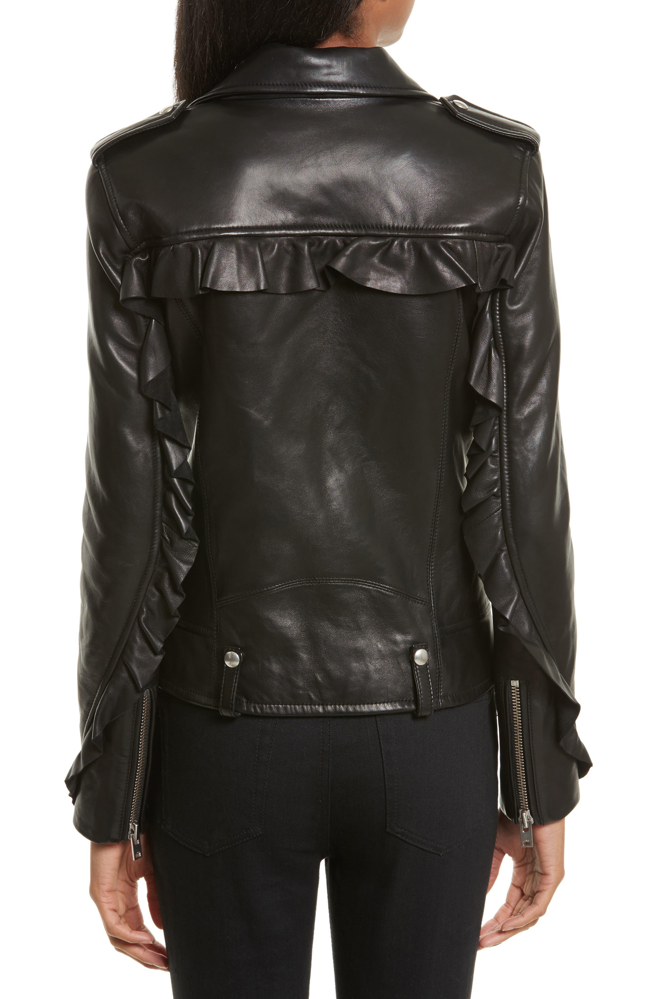Dumont Leather Jacket,                             Alternate thumbnail 2, color,                             Black