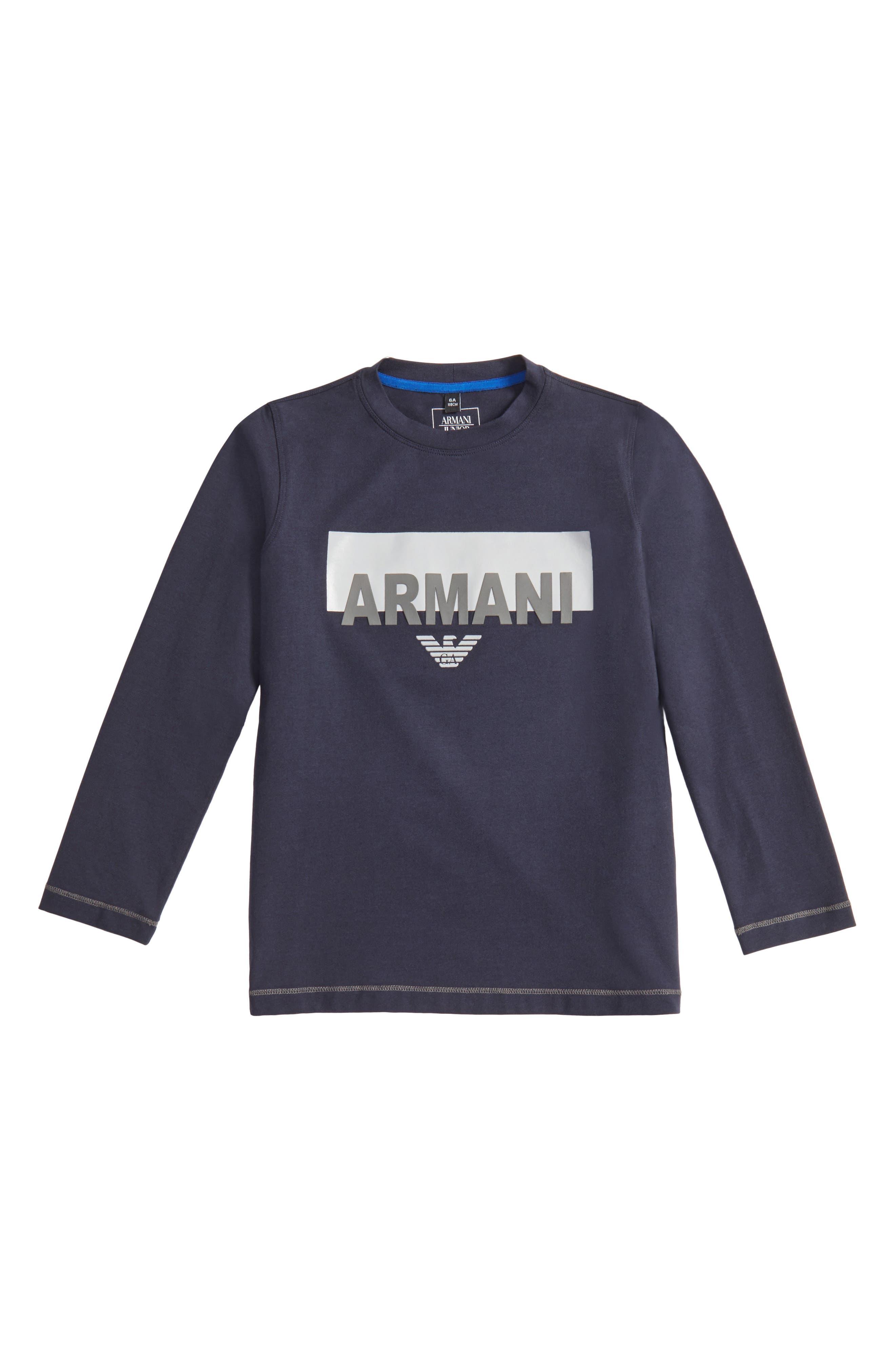 Armani Junior Logo Graphic T-Shirt (Little Boys & Big Boys)