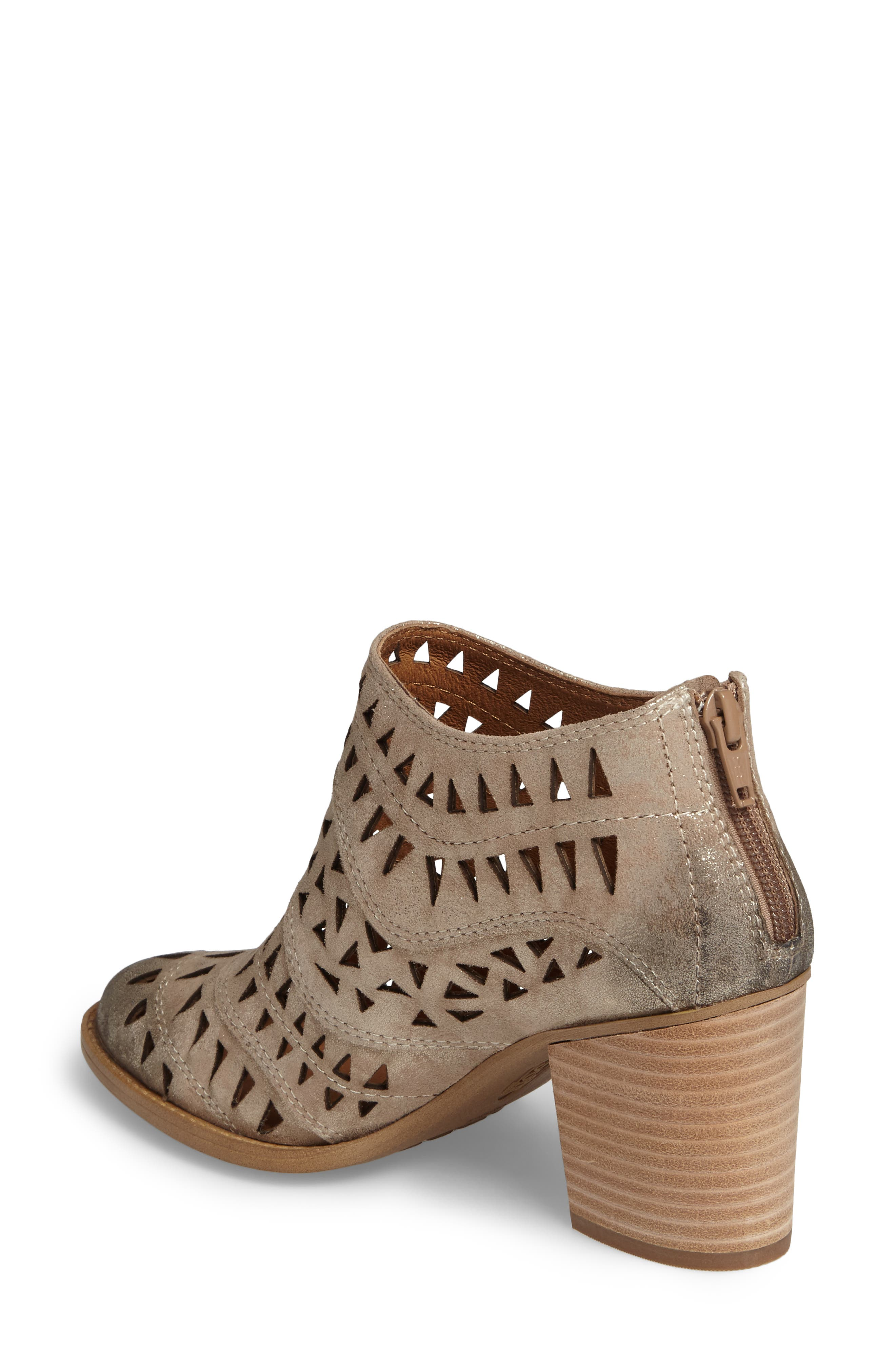 Westwood Laser Cut Bootie,                             Alternate thumbnail 2, color,                             Anthracite Distressed Foil